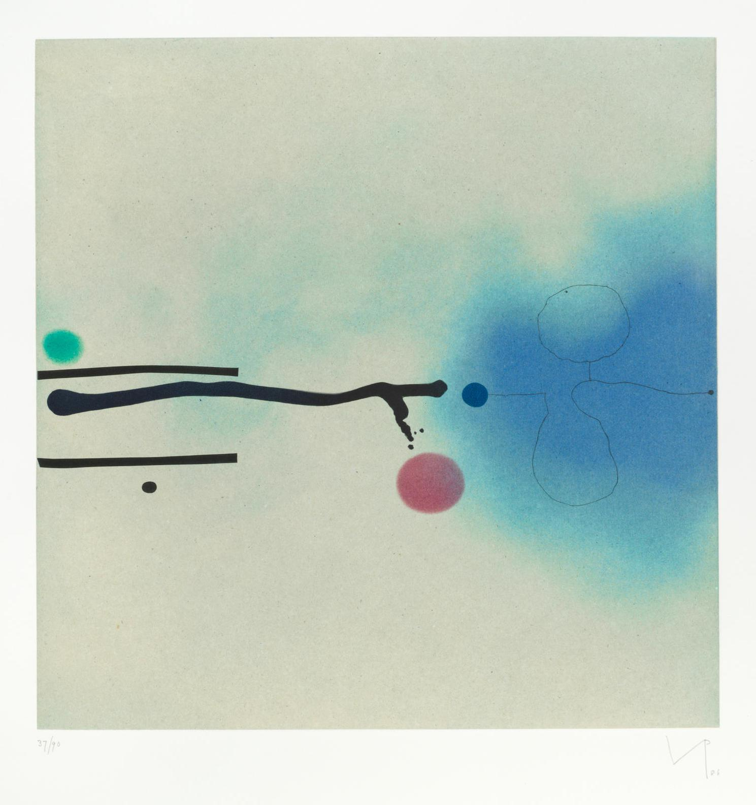 Victor Pasmore-Blue Image (Lynton G39)-1986