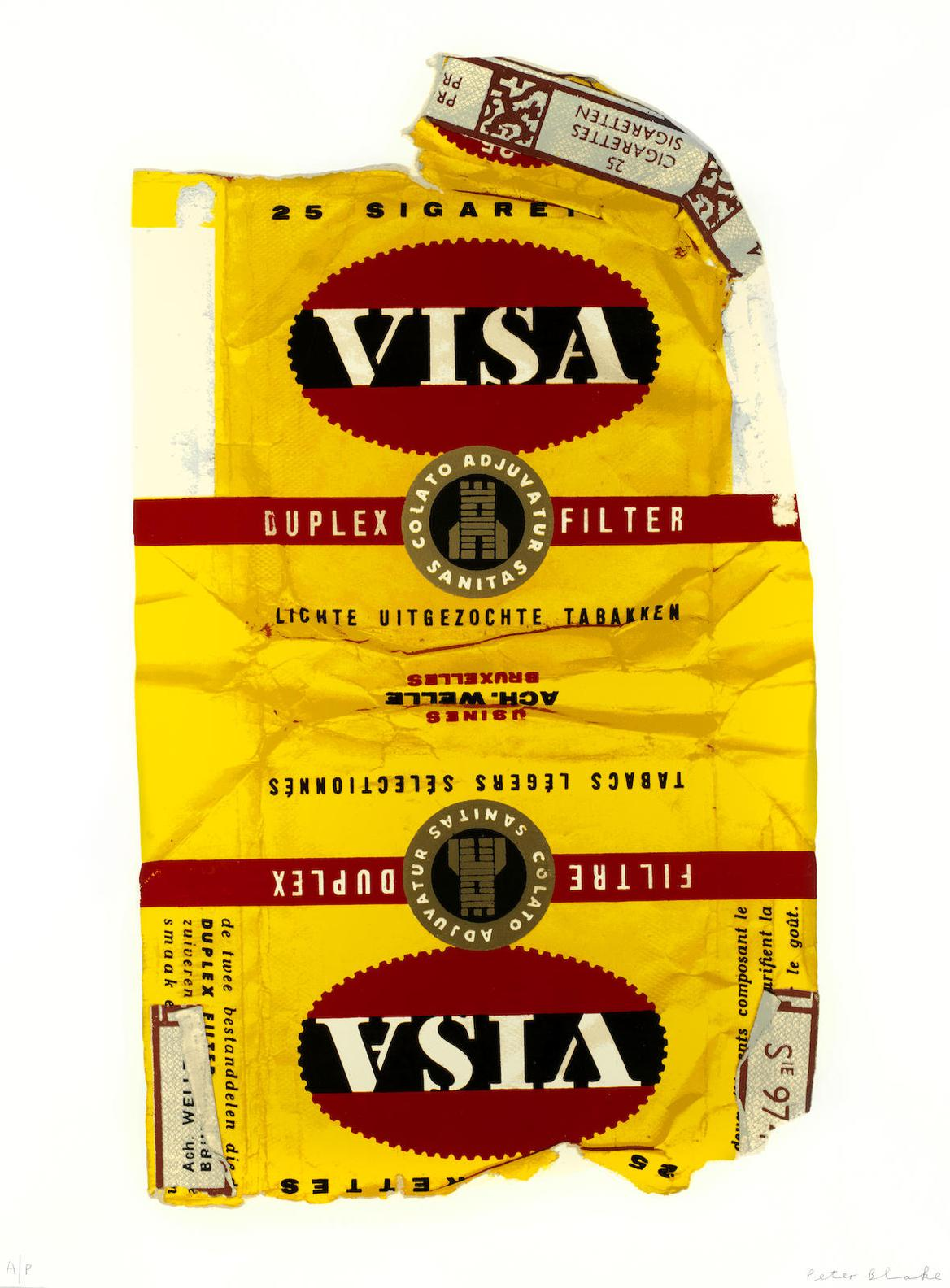 Sir Peter Blake - Fag Packets (Visa, La Ronde, Fifth Avenue And Boule)-2005