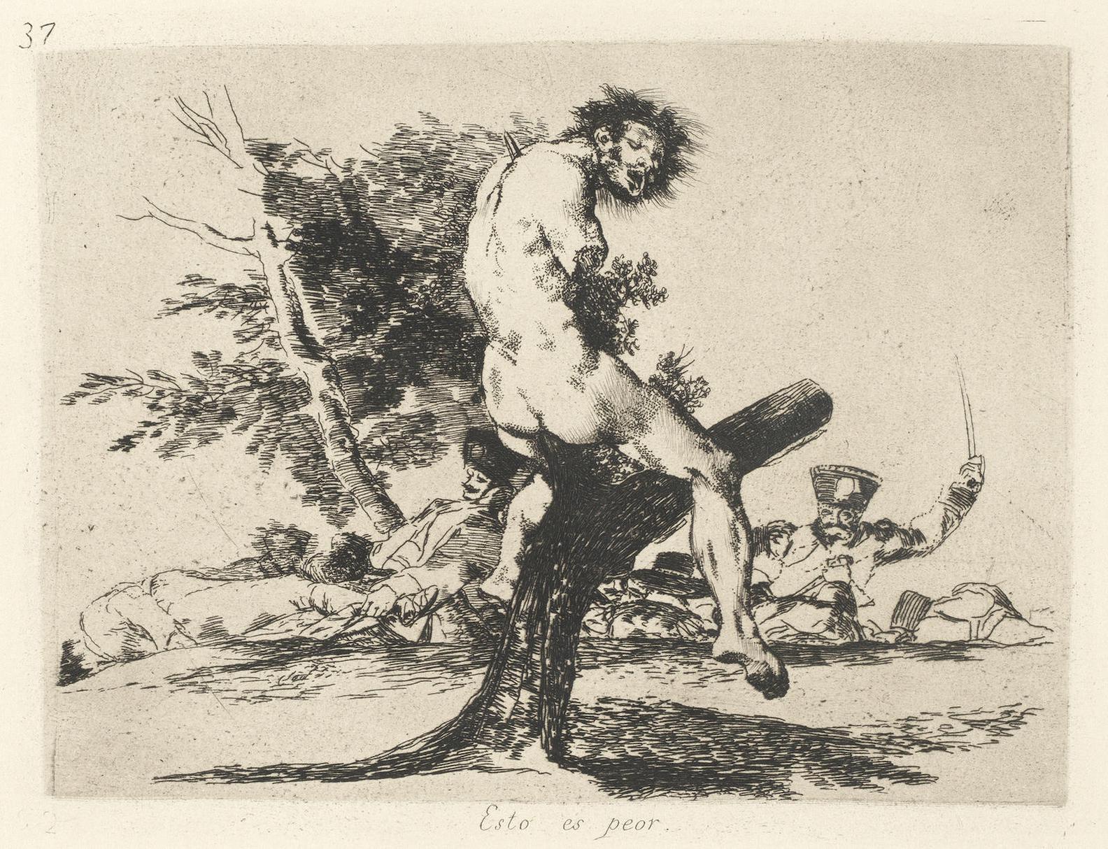 Francisco de Goya-Los Desastres De La Guerra (D. 120-199; H. 121-200)-1820