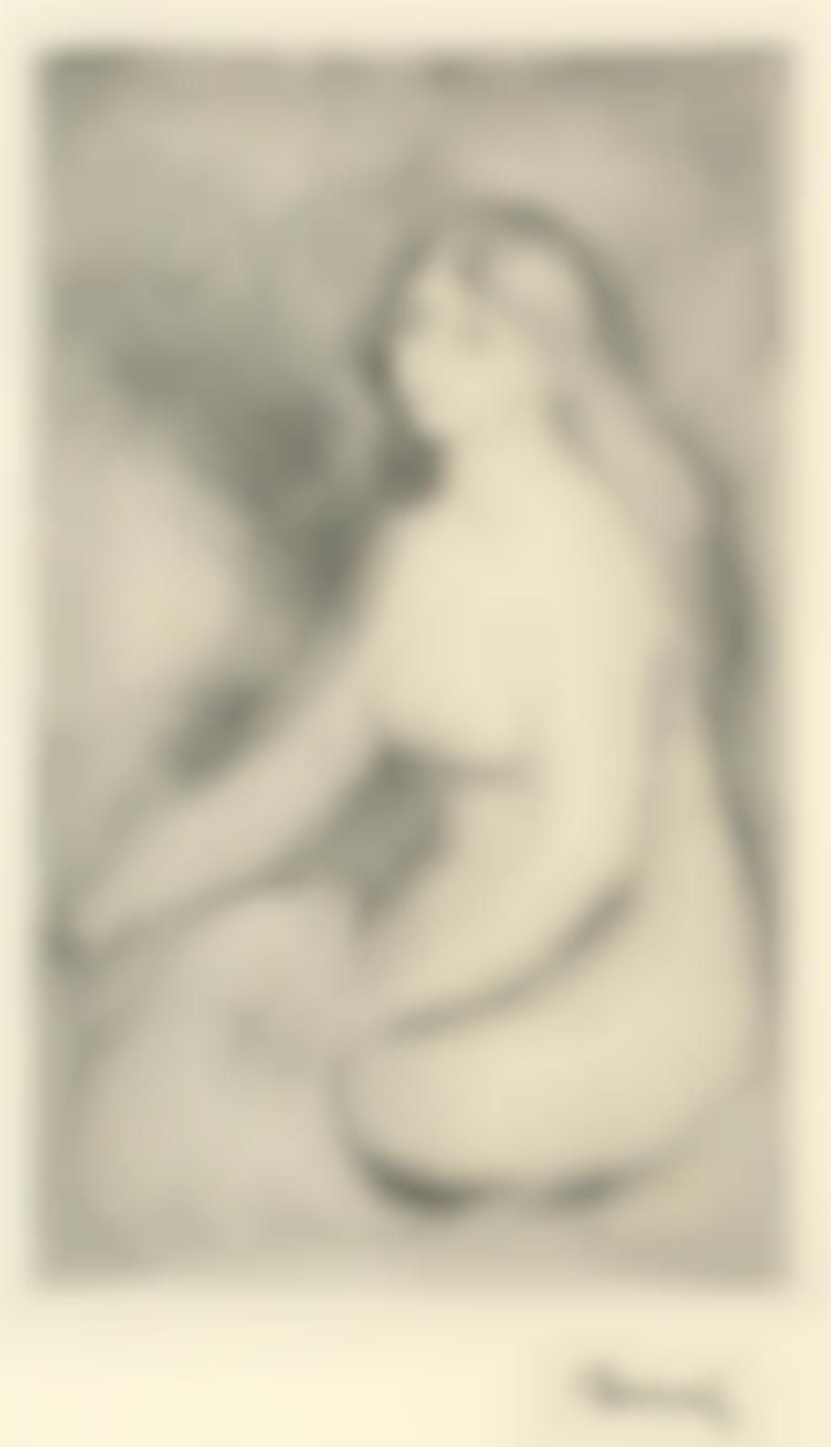Pierre-Auguste Renoir-Baigneuse Assise (Delteil 11 Stella 11)-1897
