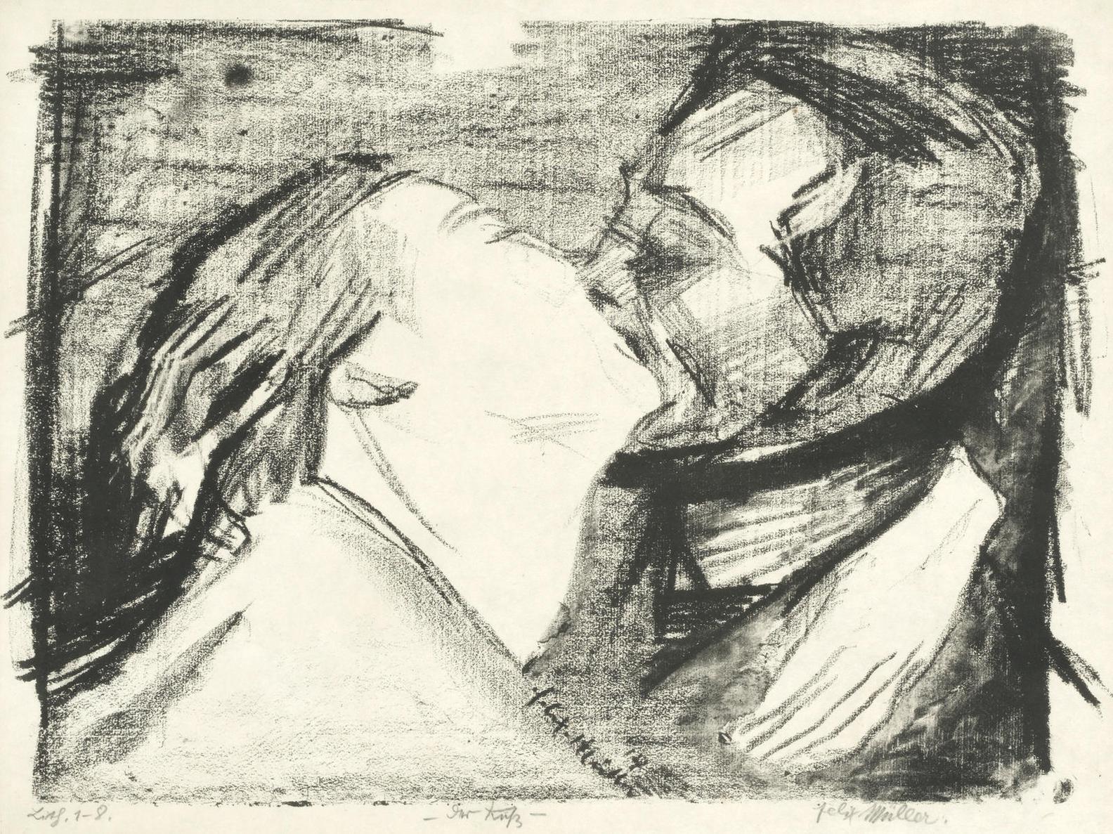 Conrad Felixmuller-Der Kuß; Liebesfrucht; Erste Schritte-1930