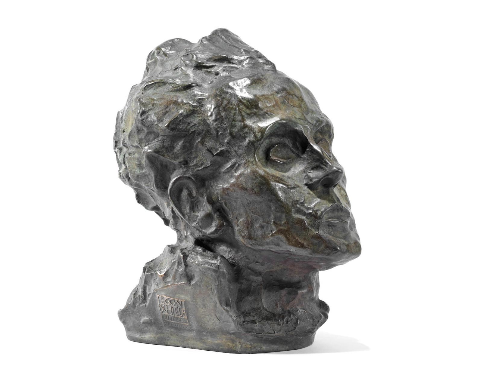 Egon Schiele-Selbstbildnis (Self-Portrait) (Kallir4F)-1917