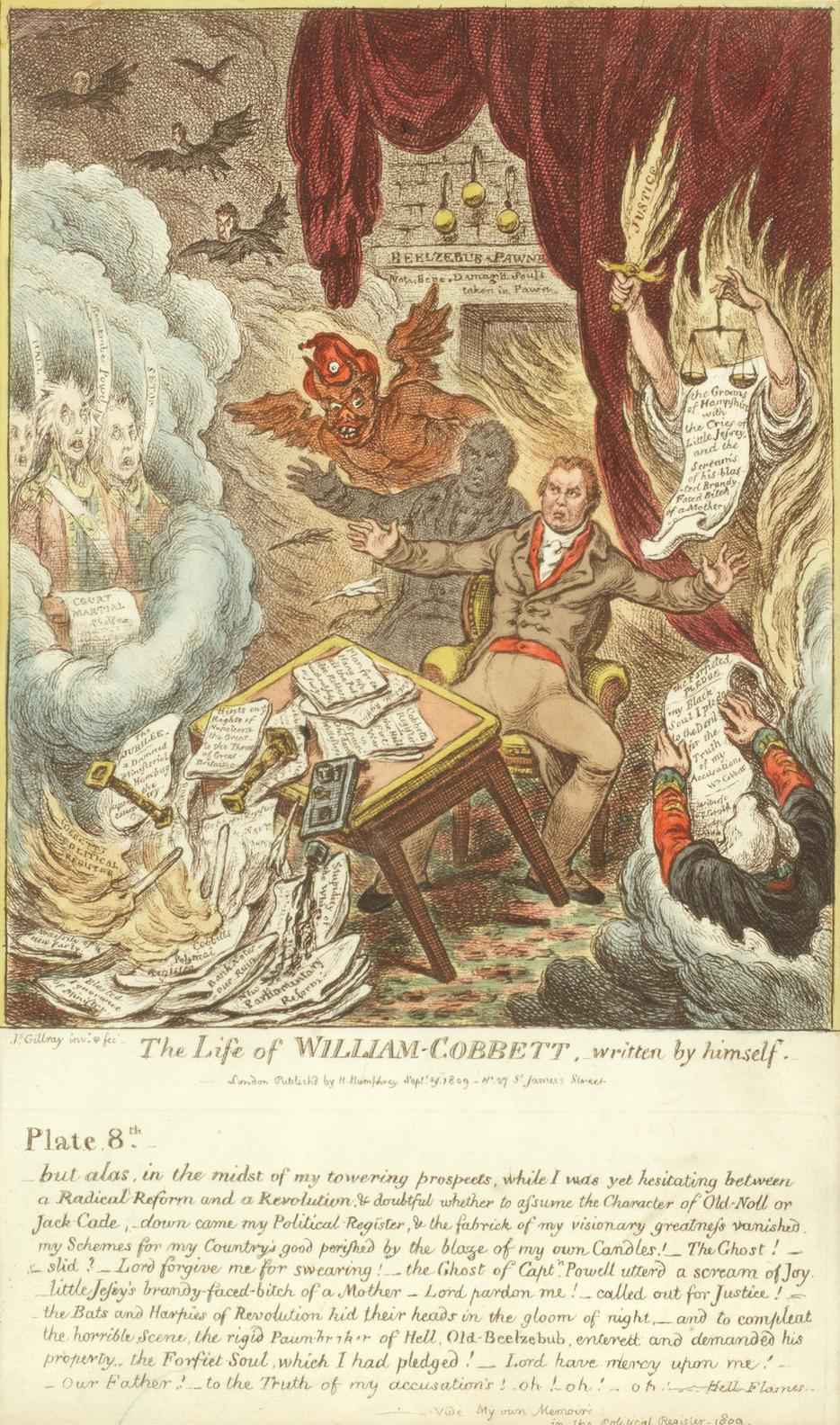 James Gillray-The Life Of William Cobbett-1809
