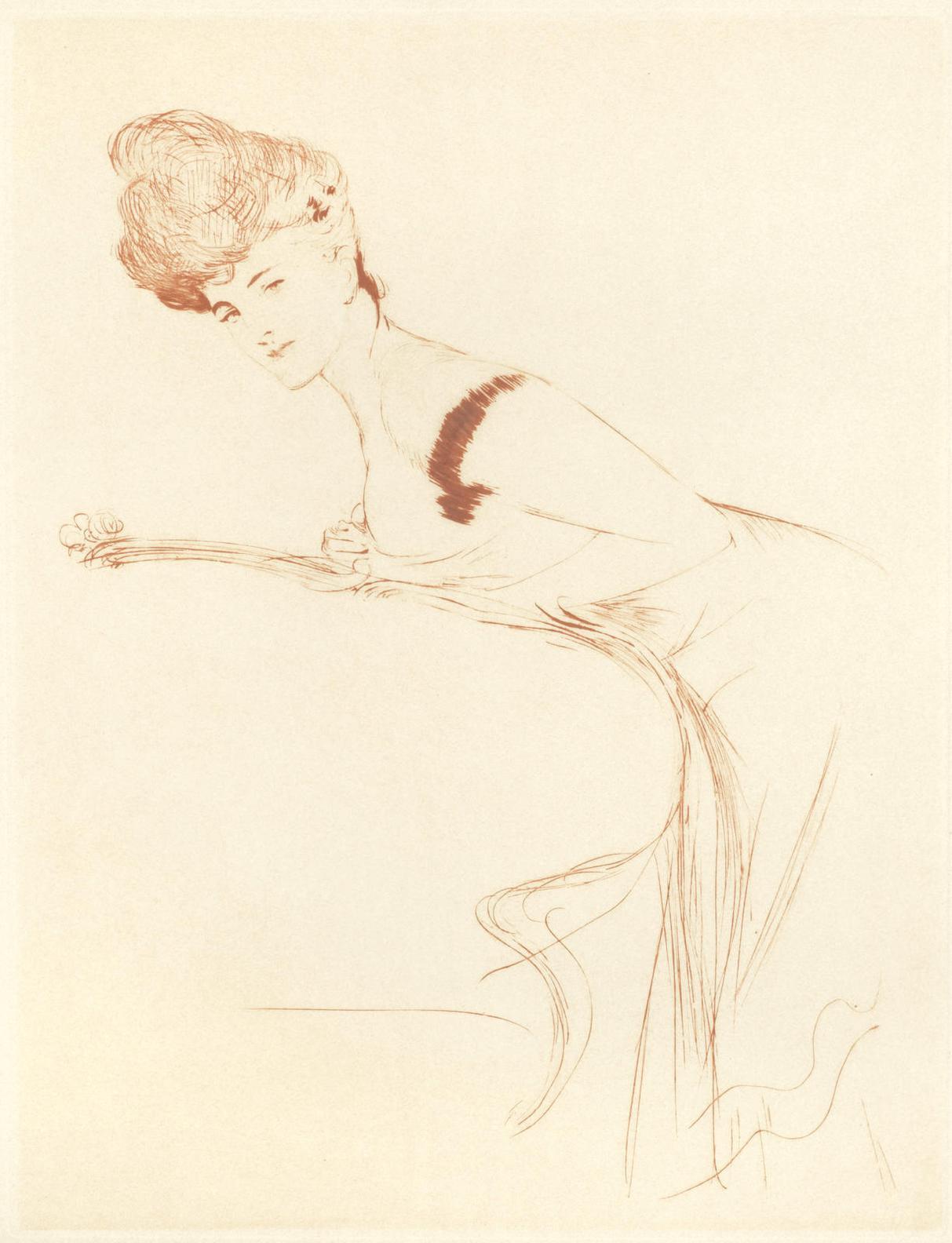 Paul Cesar Helleu-Portrait Of A Woman-