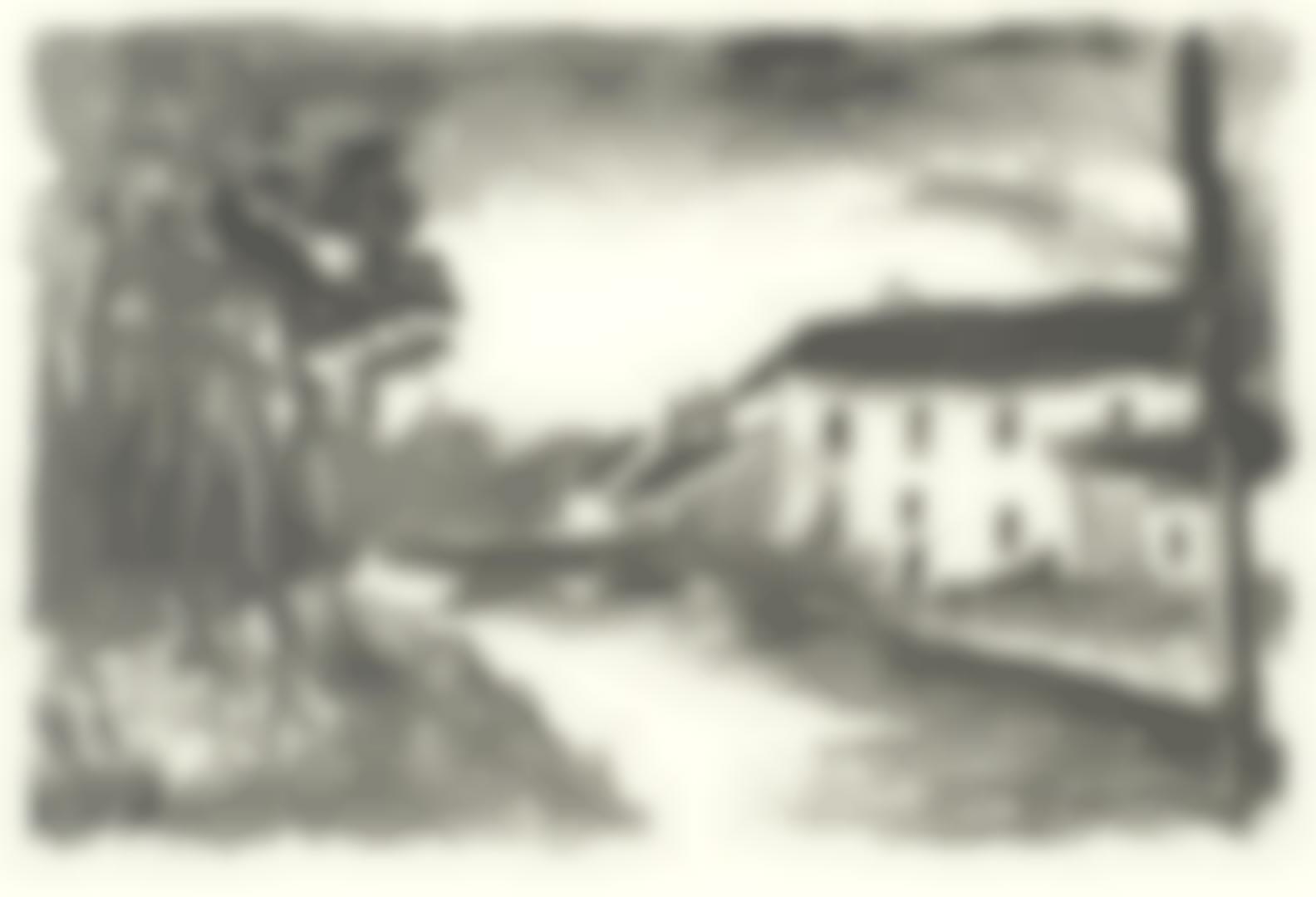 Maurice de Vlaminck-Le Moulin De La Naze, From Album Des Peintres Lithographes-1924