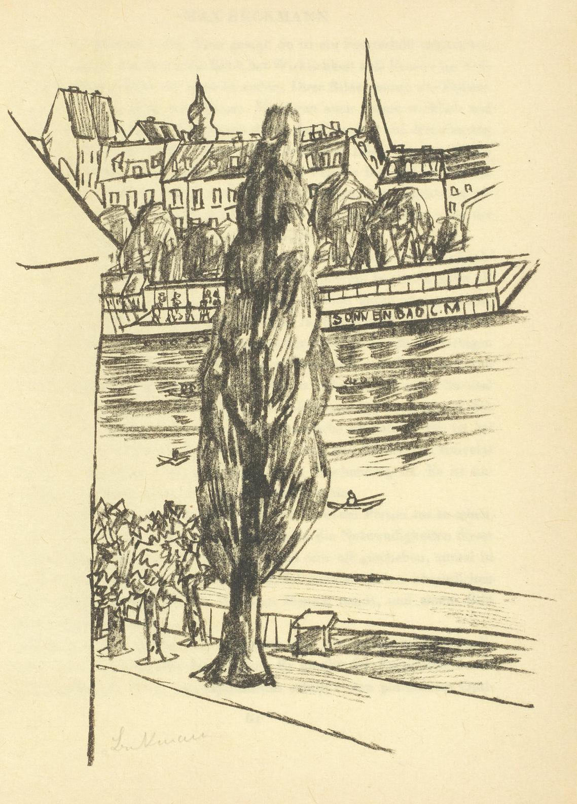 Max Beckmann-Curt Glaser: Max Beckmann (Hofmaier 265, 266, 267, 268)-1924