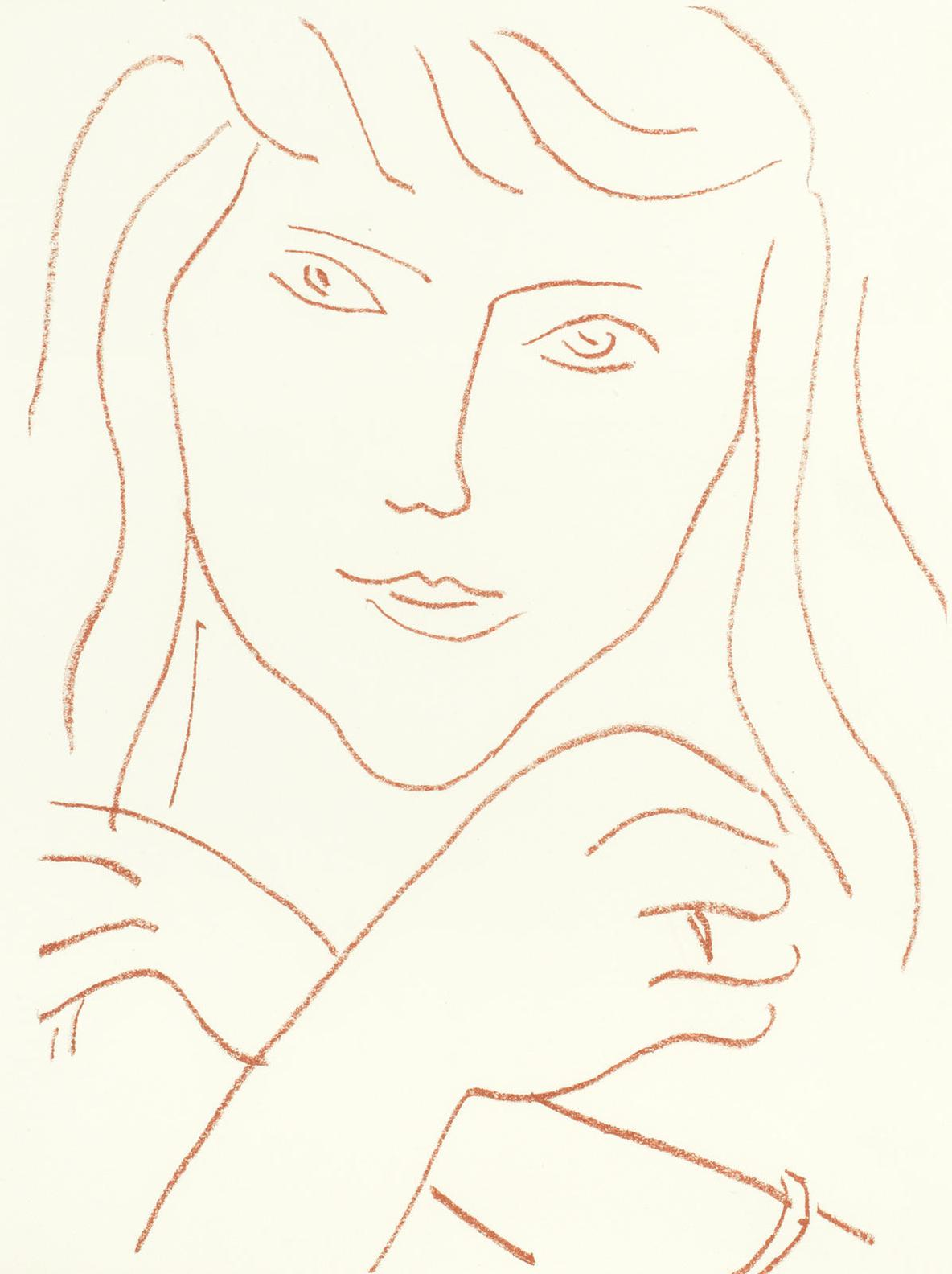 Henri Matisse-Two Plates, From Visages - Quartorze Lithographies-1946