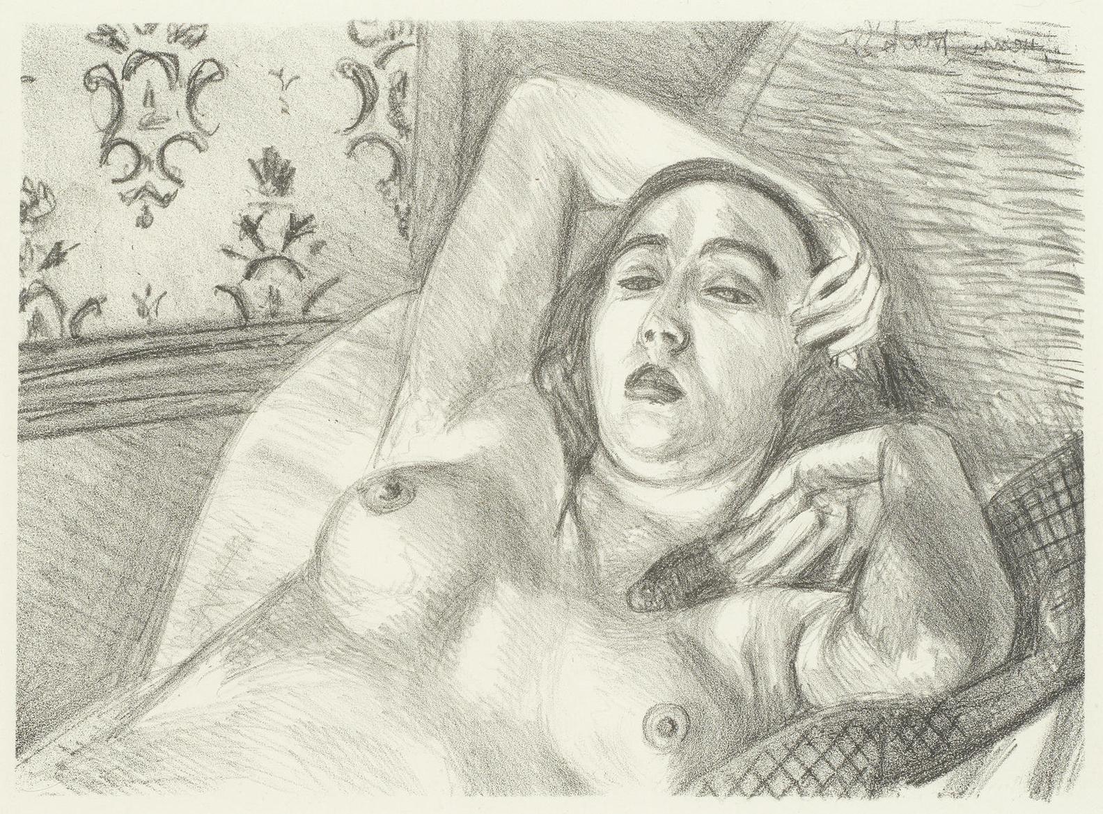Henri Matisse-Le Repos Du Modele (Duthuit 416)-1922