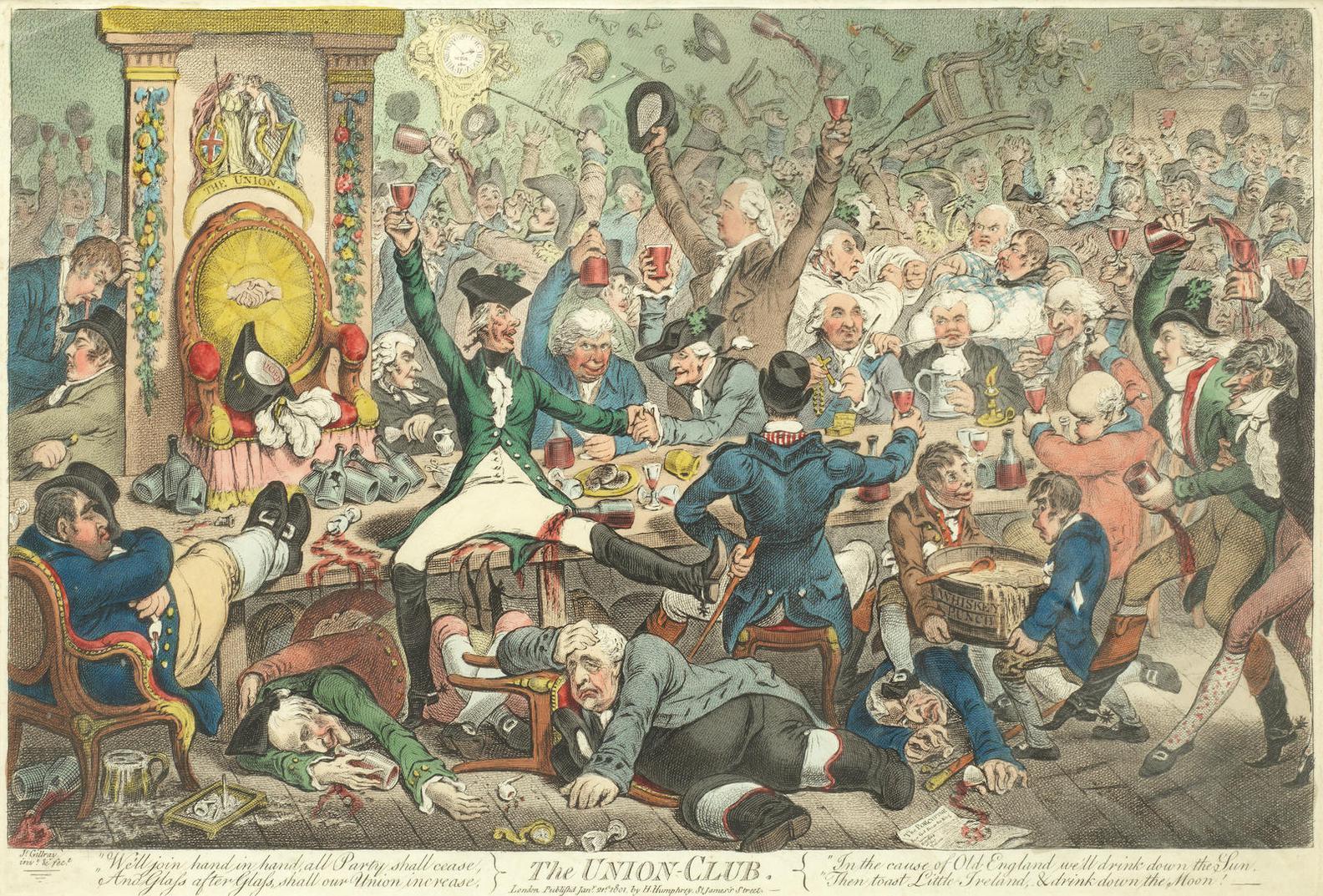 James Gillray-The Union Club-1801