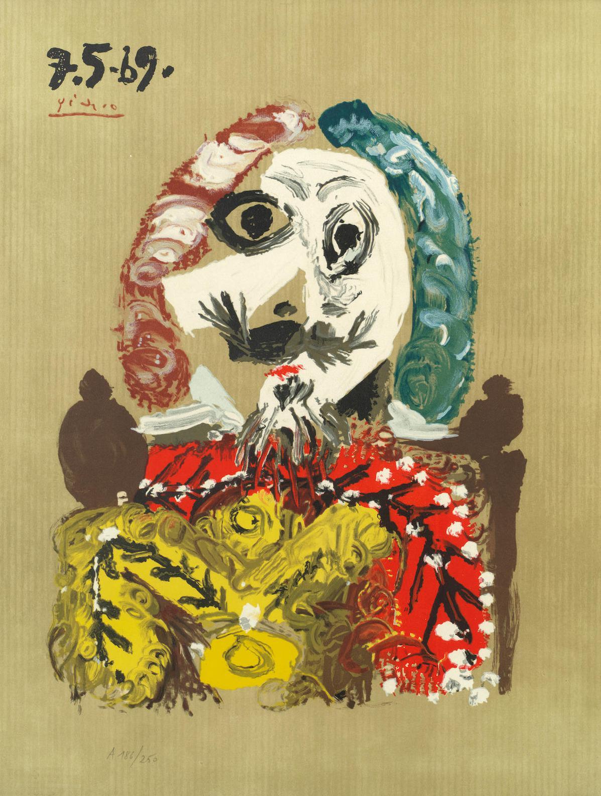 Pablo Picasso-After Pablo Picasso - One Plate, From Les Portraits Imaginaires-1969