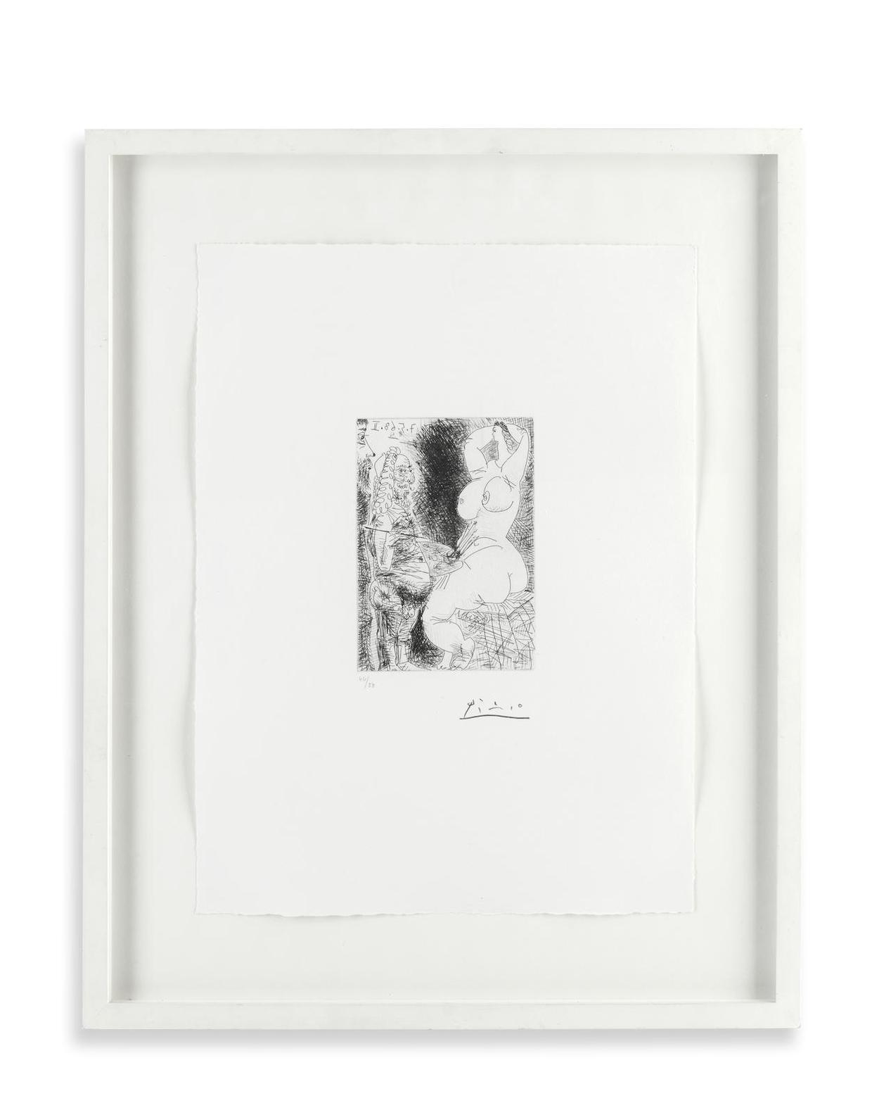 Pablo Picasso-Vieux Peintre, Modele Et Spectateur, From La Serie 347 (Bloch 1547; Baer 1564.Bb1)-1968