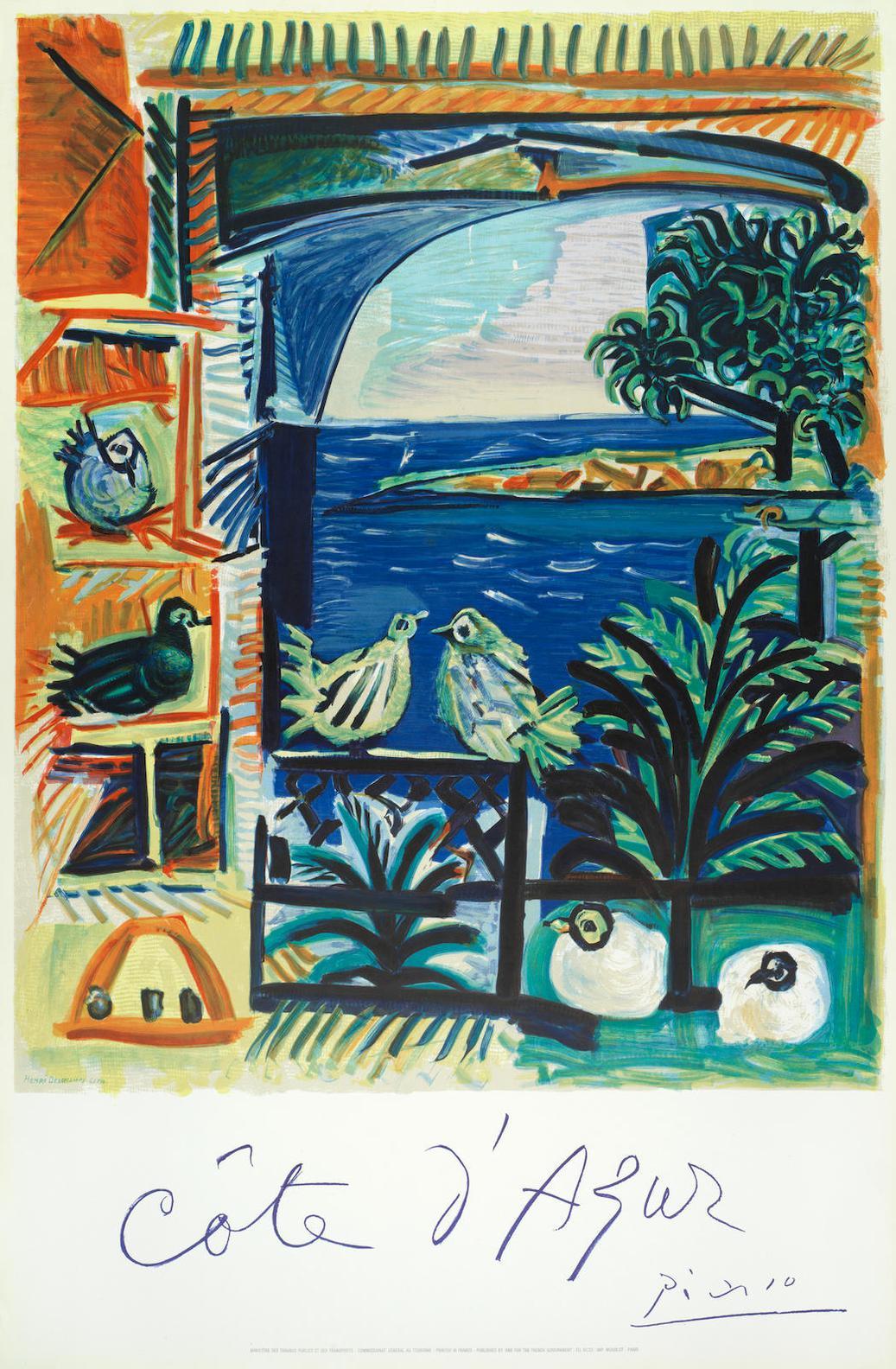 Pablo Picasso-After Pablo Picasso - Cote Dazur (Czwiklitzer 177)-1962