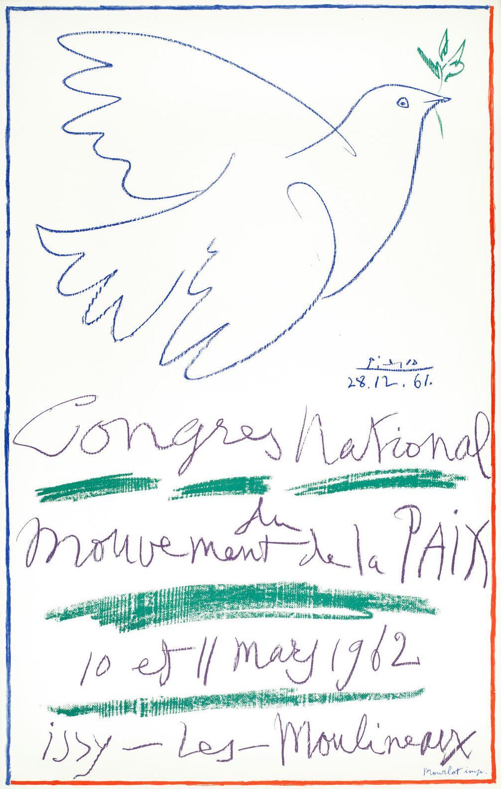 Pablo Picasso-After Pablo Picasso - Congres National Du Mouvement De La Paix (Czwiklitzer179)-1961