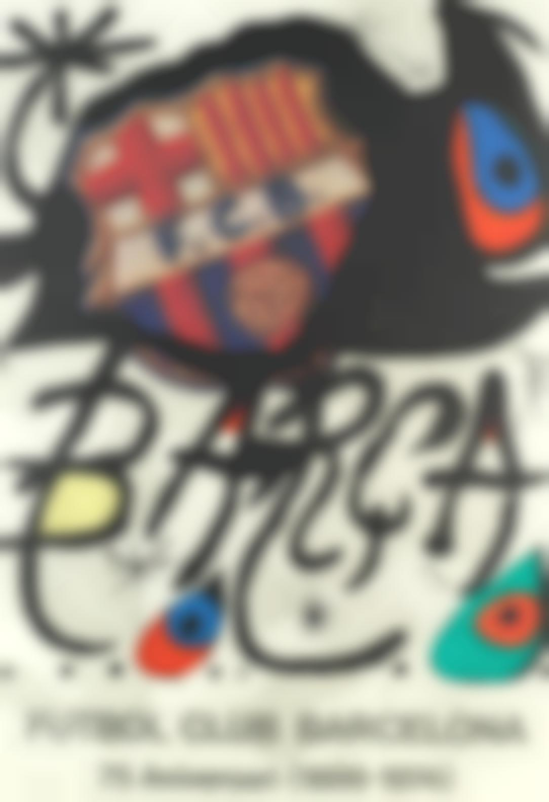 Joan Miro-Futbol Club Barcelona (Mourlot 931)-1974