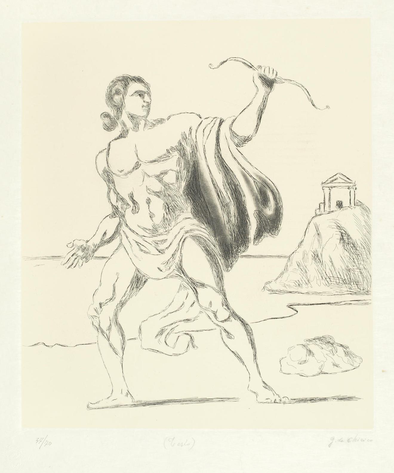 Giorgio de Chirico-Teseo (Brandani 3)-1970
