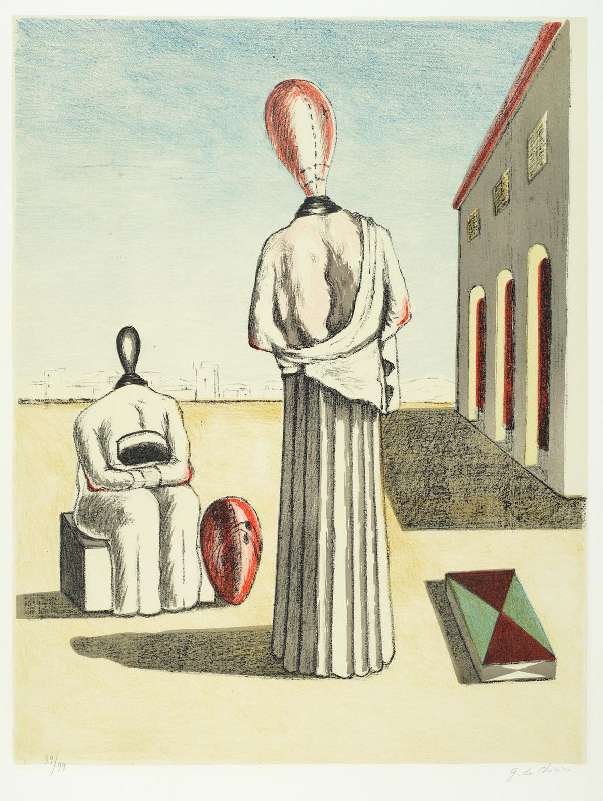 Giorgio de Chirico-Le Muse Inquietanti (Brandani 206)-1976