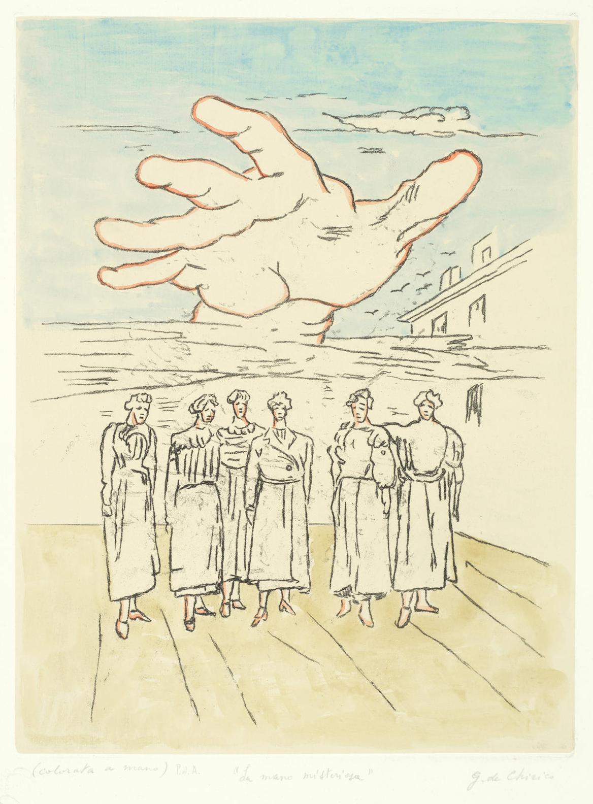 Giorgio de Chirico-La Mano Misteriosa (Brandani 28)-1972