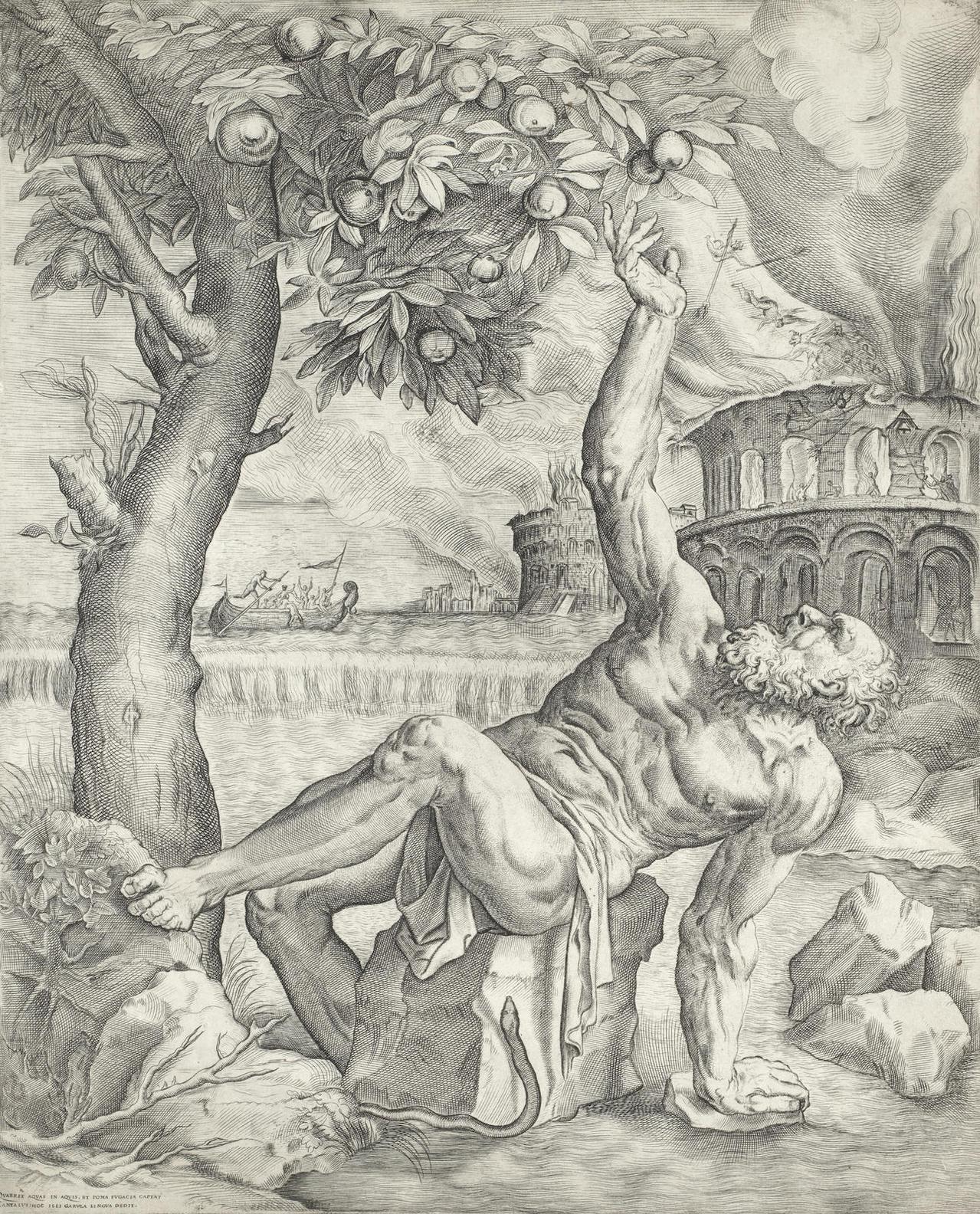 Giulio Sanuto - Tantalus (Passavant16; Bury 12)-1565