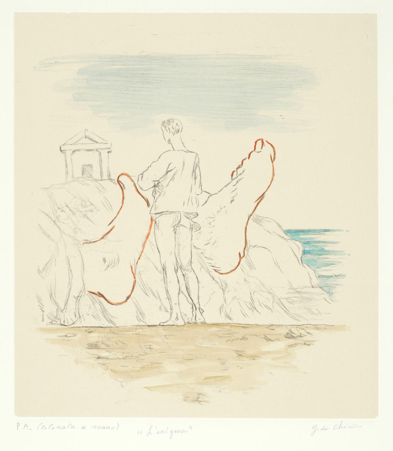 Giorgio de Chirico-Lenigma (Brandani 13)-1971