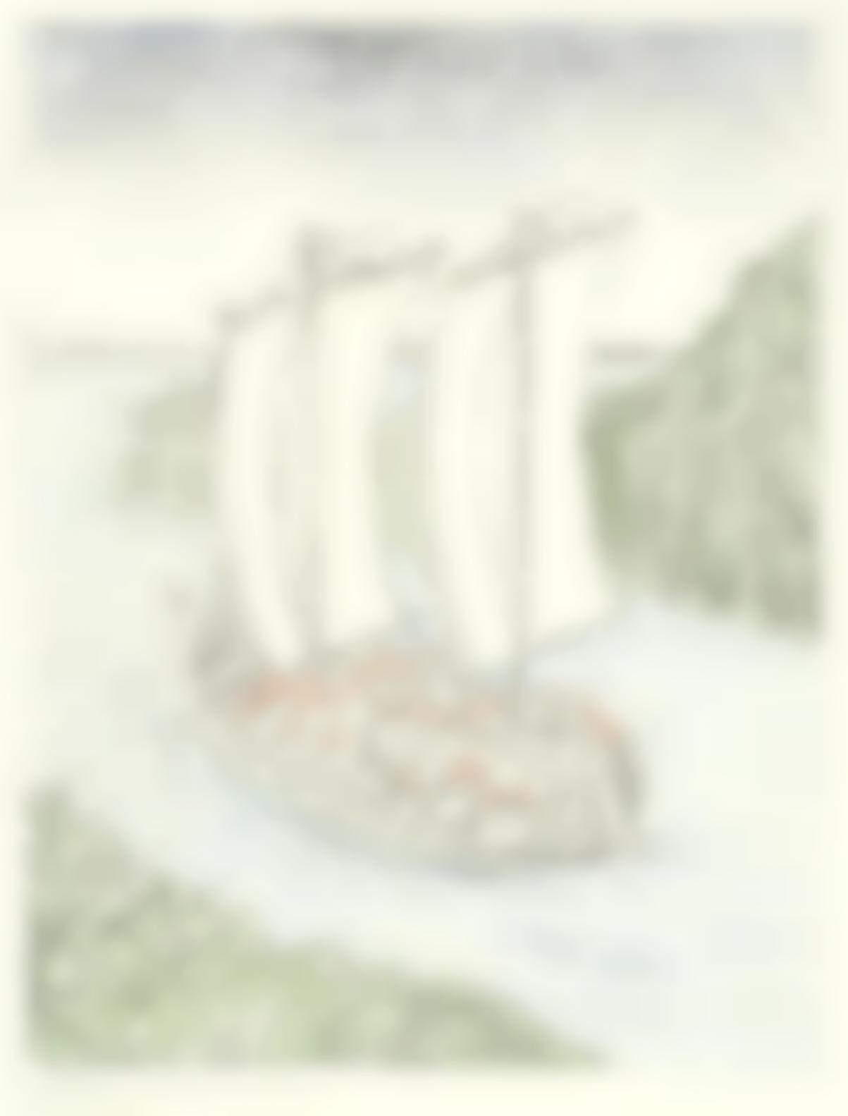 Giorgio de Chirico-La Barca Misteriosa (Brandani 175)-1973