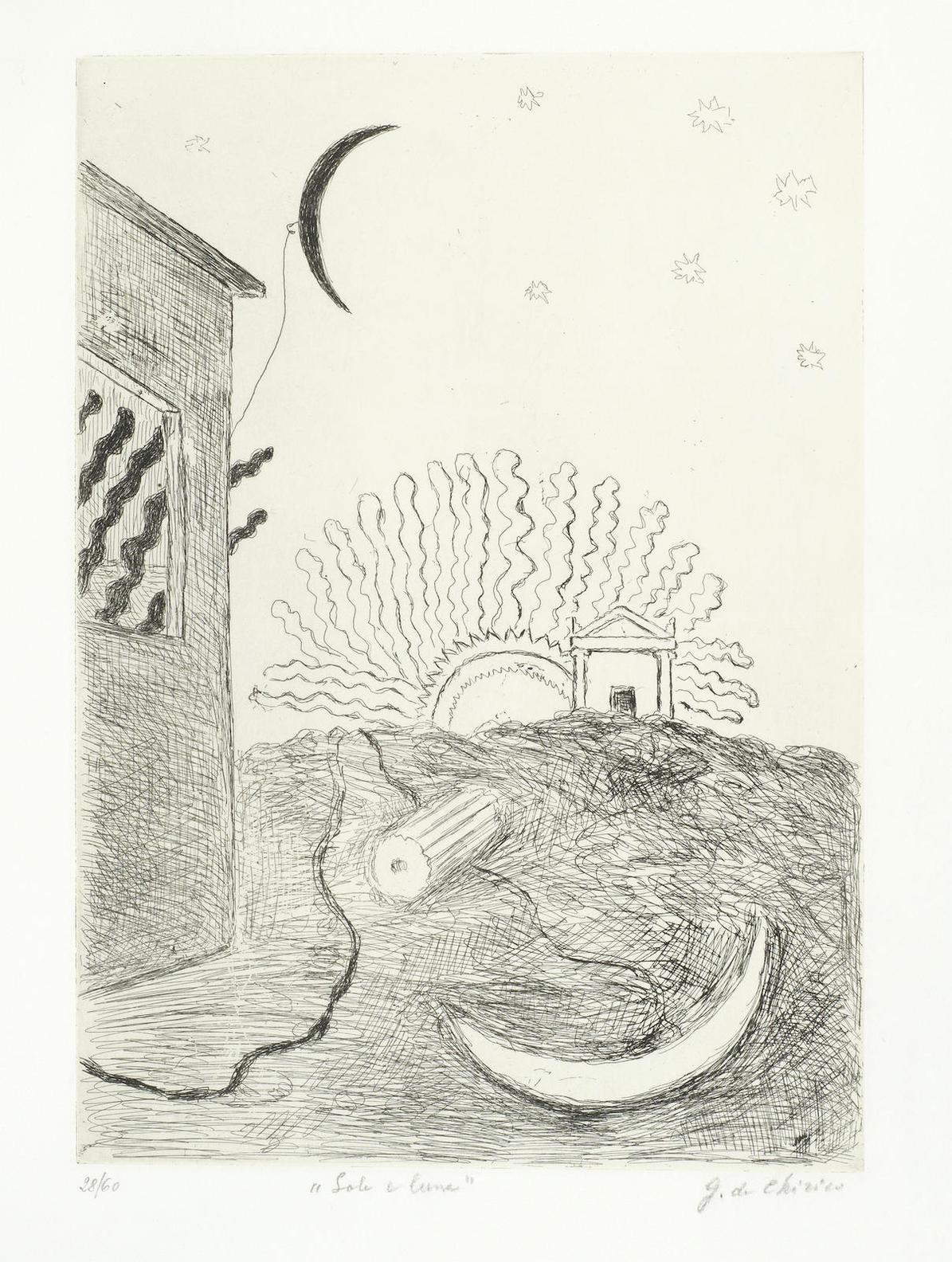 Giorgio de Chirico-Sole E Luna(Brandani 2)-1970