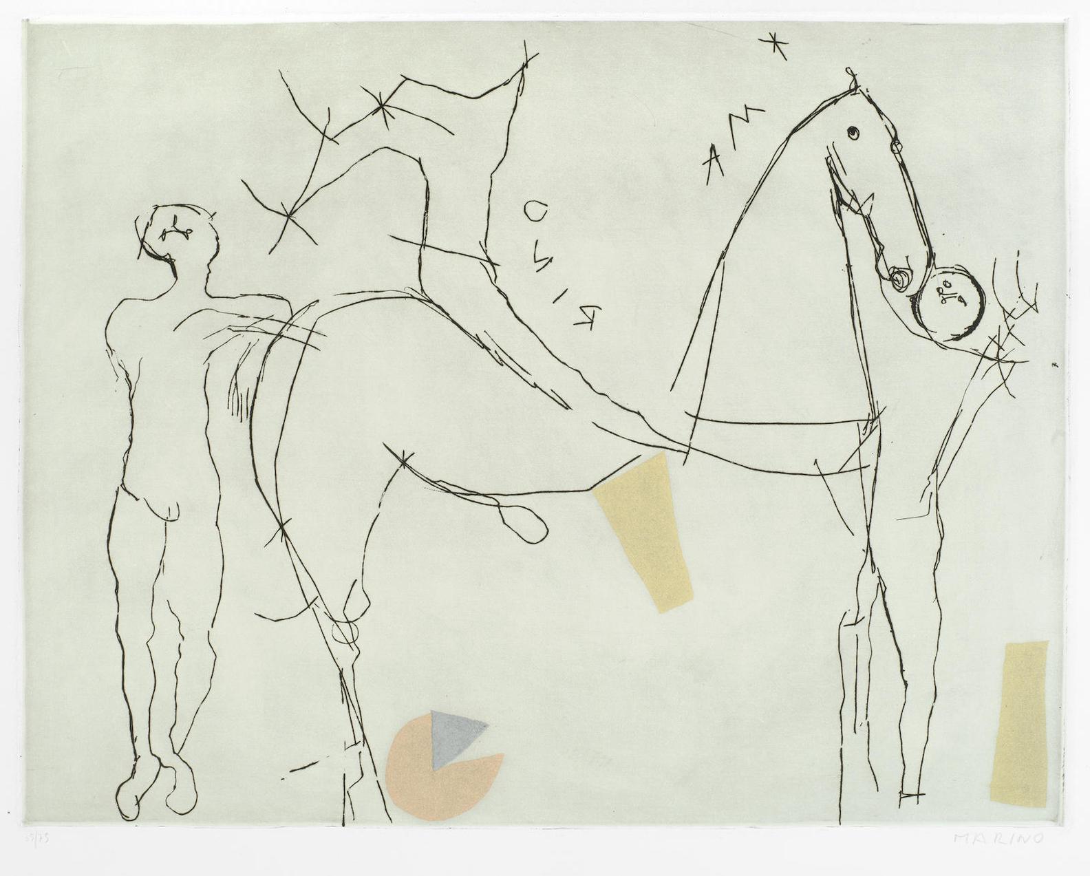 Marino Marini-Teatrino, From Il Teatro Delle Maschere (Guastalla A155)-1973