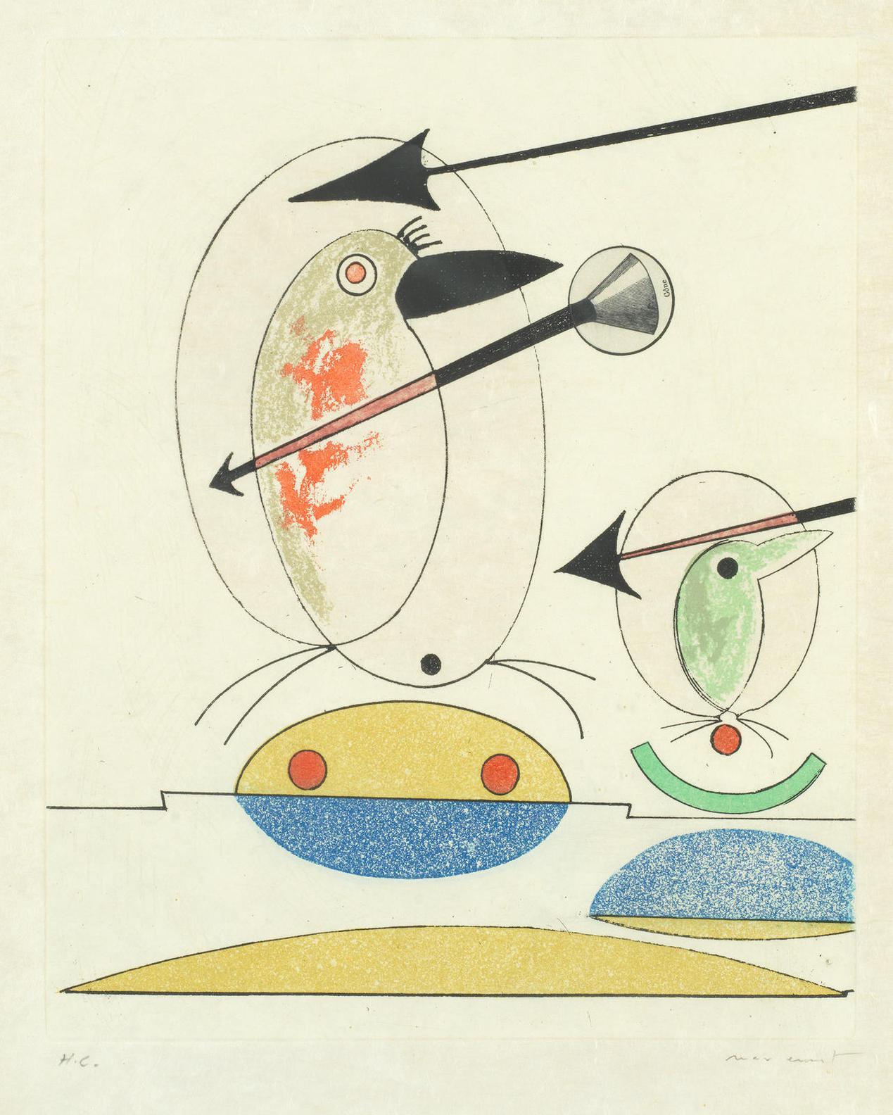 Max Ernst-Oiseaux En Peril-1975