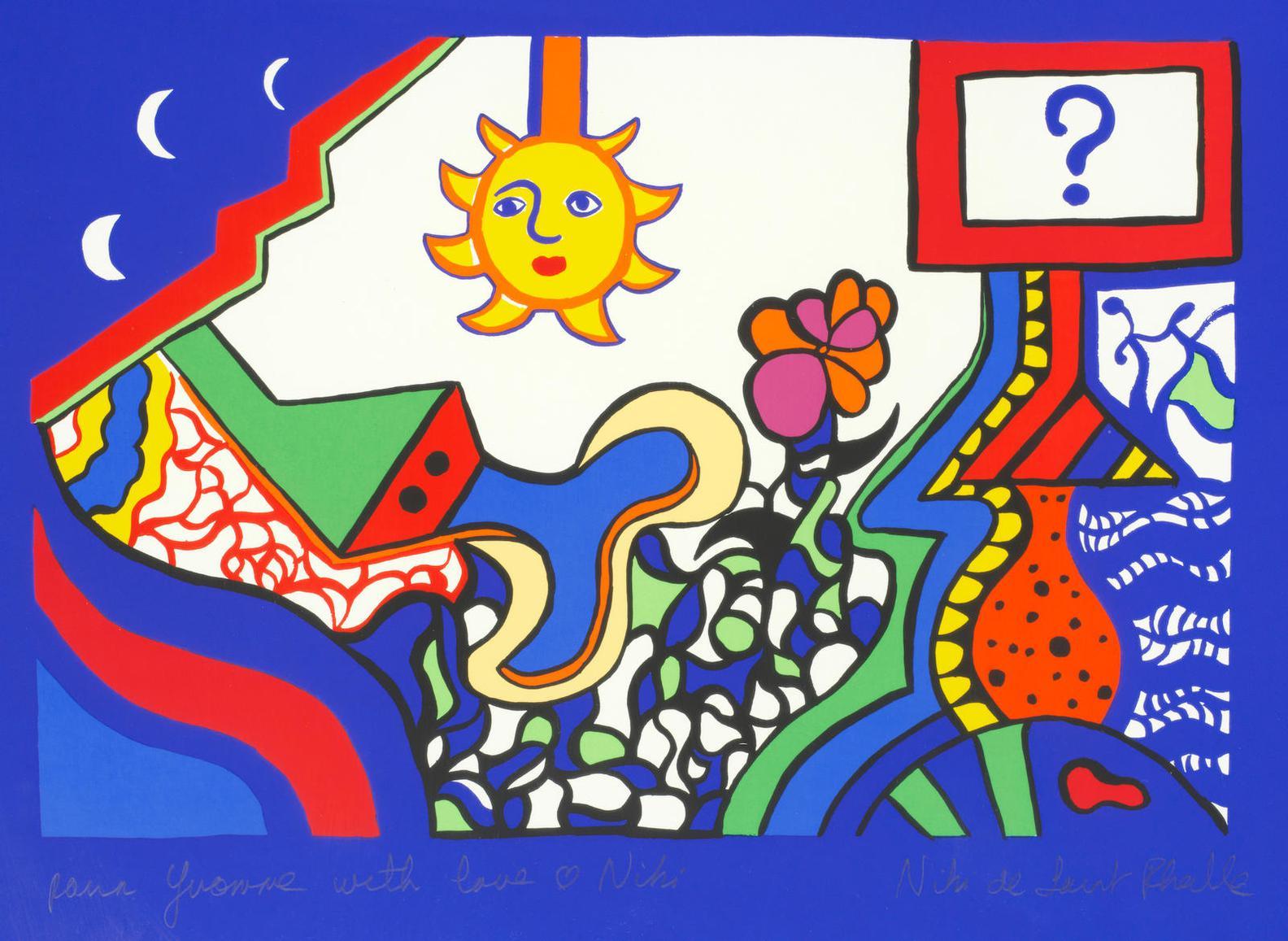 Niki de Saint Phalle-A Collection Of Four Prints: La Question, Carte No. XVII, Borrego Desert, Samson and Goliath-1988