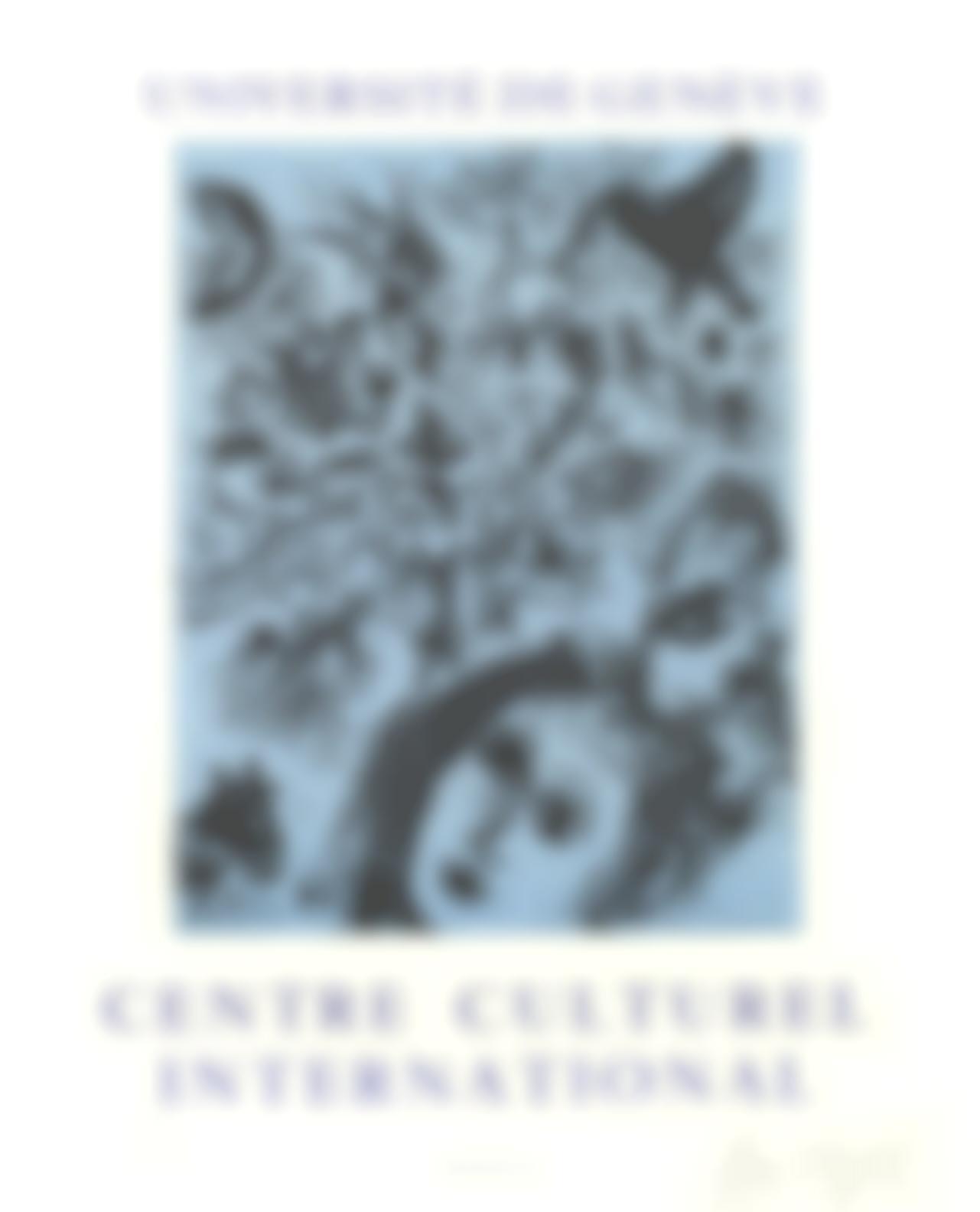 Marc Chagall-Universite De Geneve, Centre Culturel International-1971