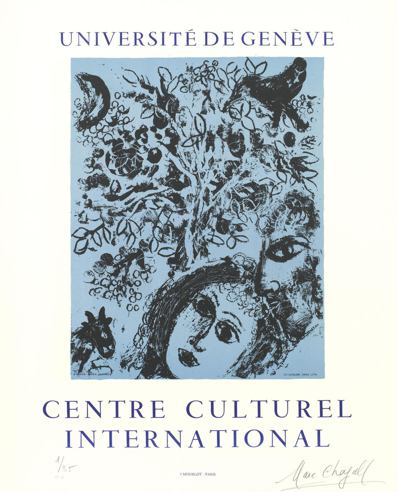 Marc Chagall-Universite De Geneve, Centre Culturel International-1971