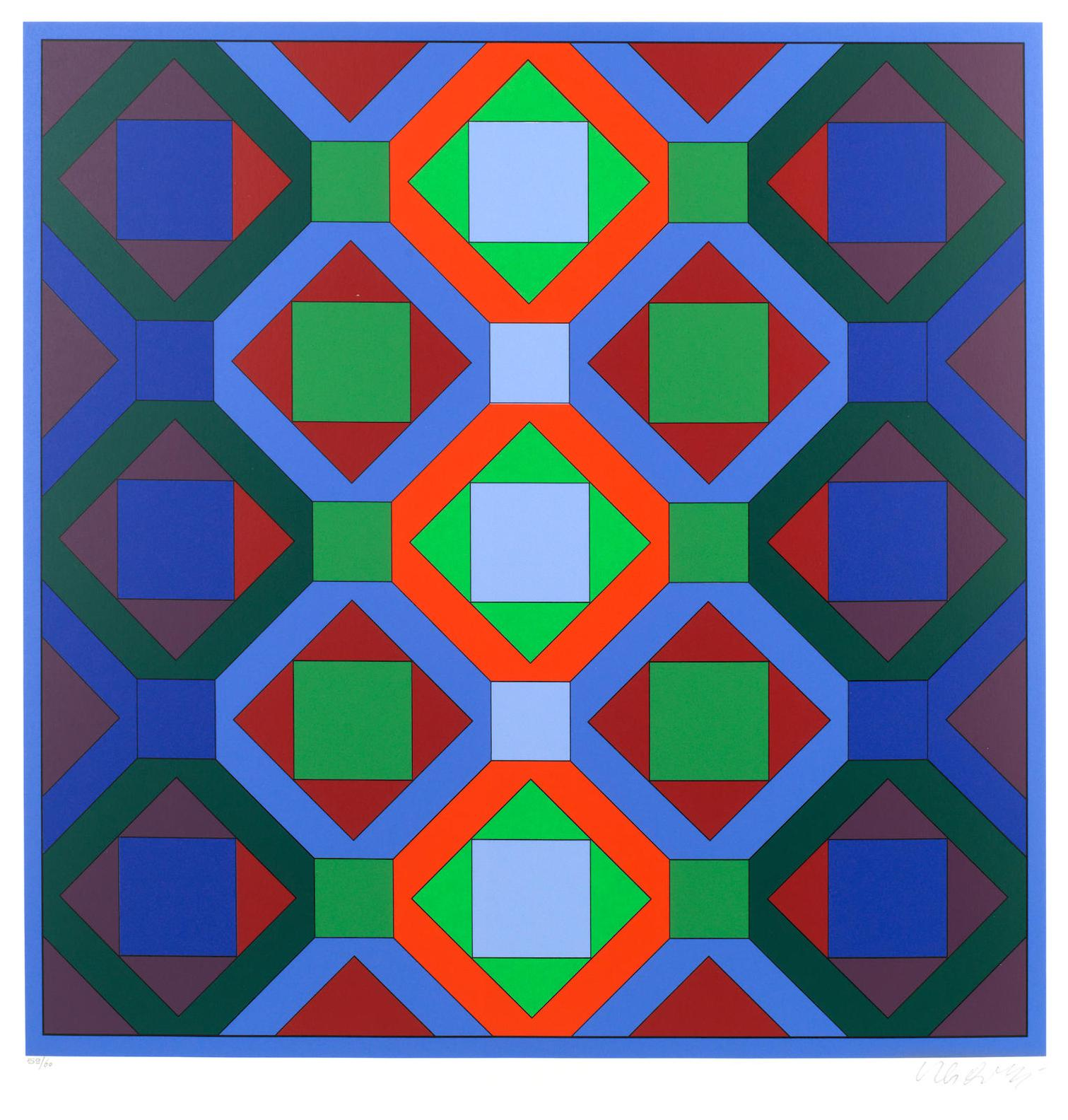 Victor Vasarely-Octagonal Structures-1969
