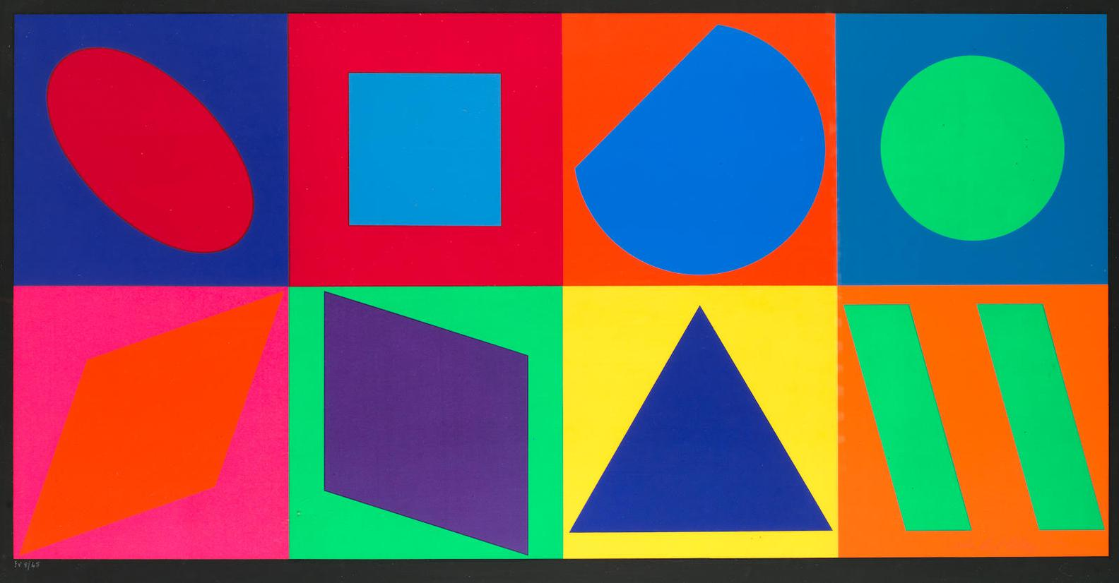 Victor Vasarely-The Eight Squares-1960