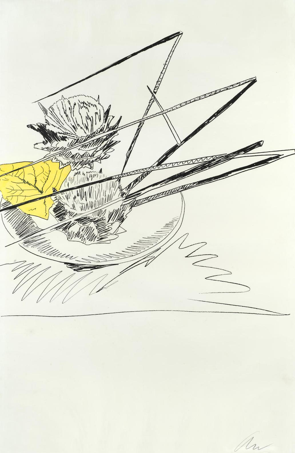 Andy Warhol-One Plate, From Flowers (Feldman & Schellmann II.116)-1974