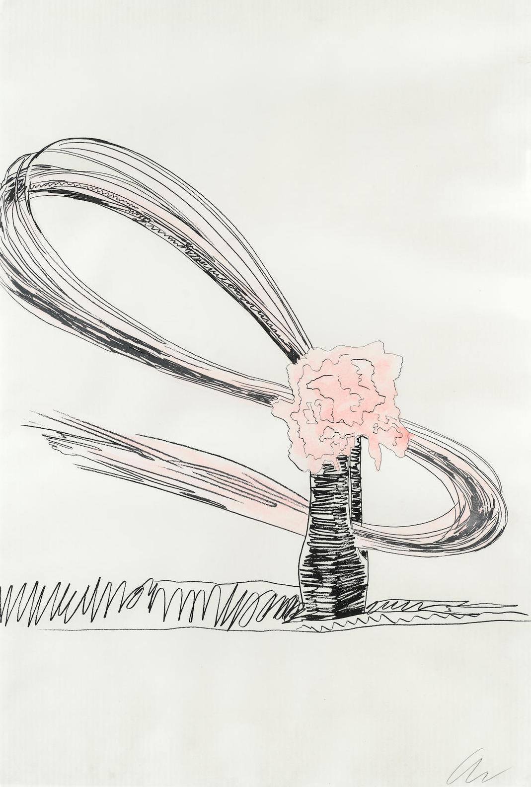 Andy Warhol-One Plate, From Flowers (Feldman & Schellmann Ii.117)-1974