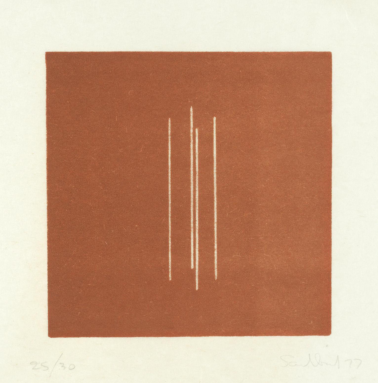 Fred Sandback-Untitled, From Mappe Mit 10 Umkehrlithographien-1977