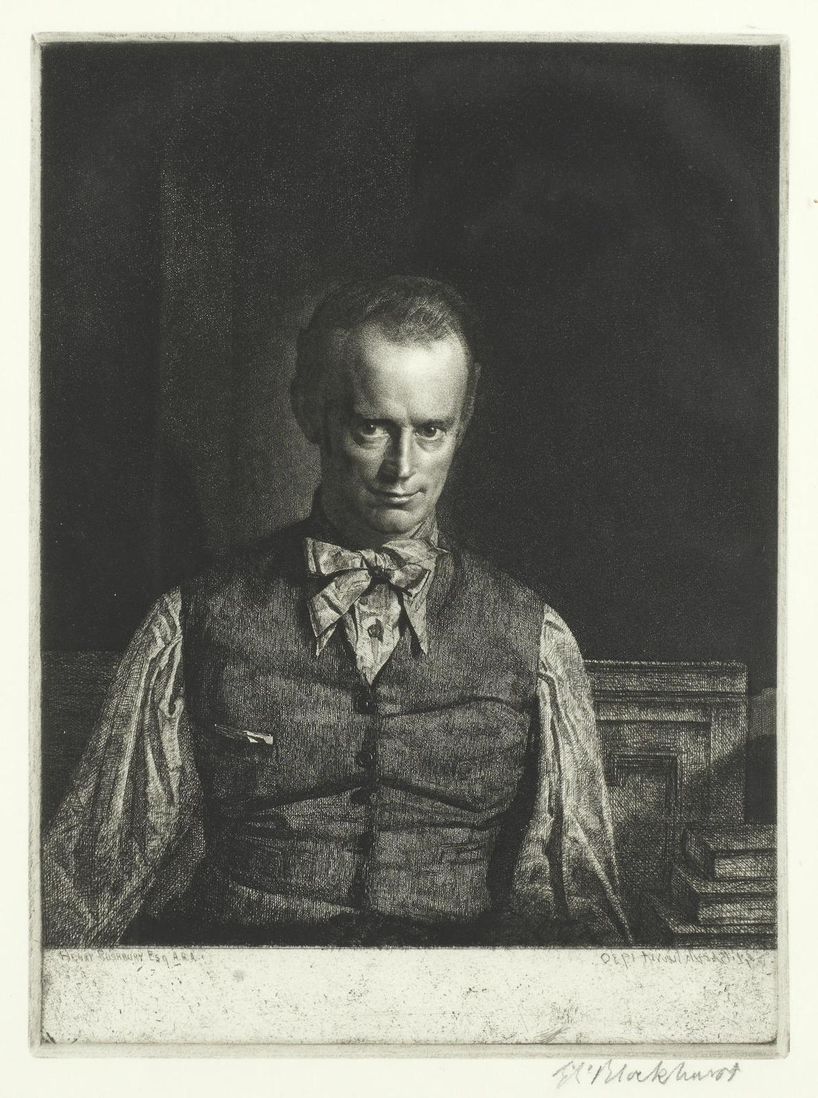 Gerald Leslie Brockhurst R.P. R.E. - A Group Of Etchings: Henry Rushbury, James Mcbey And Young Womanhood (Fletcher 66, 69, 70)-1931