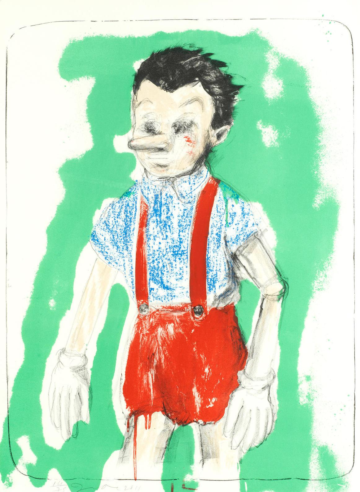 Jim Dine-Pinocchio Coming From The Green-2011