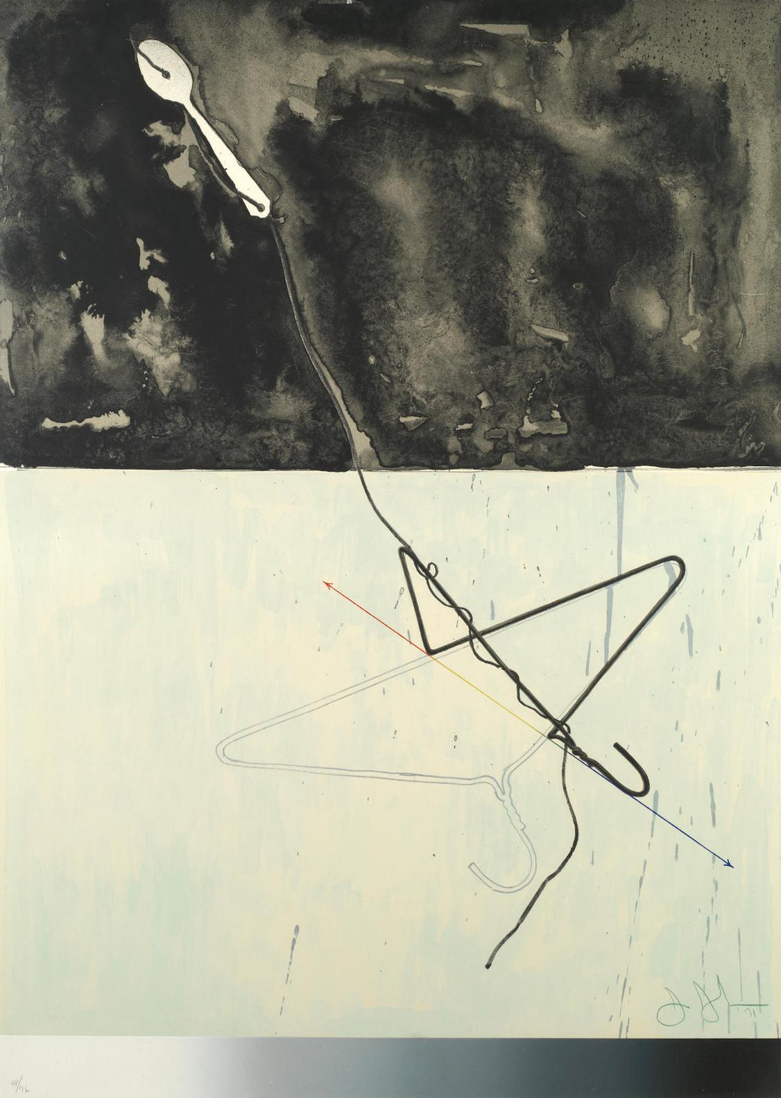 Jasper Johns-Coat Hanger And Spoon, From Fragments - According To What(Universal Limited Art Editions 96)-1971