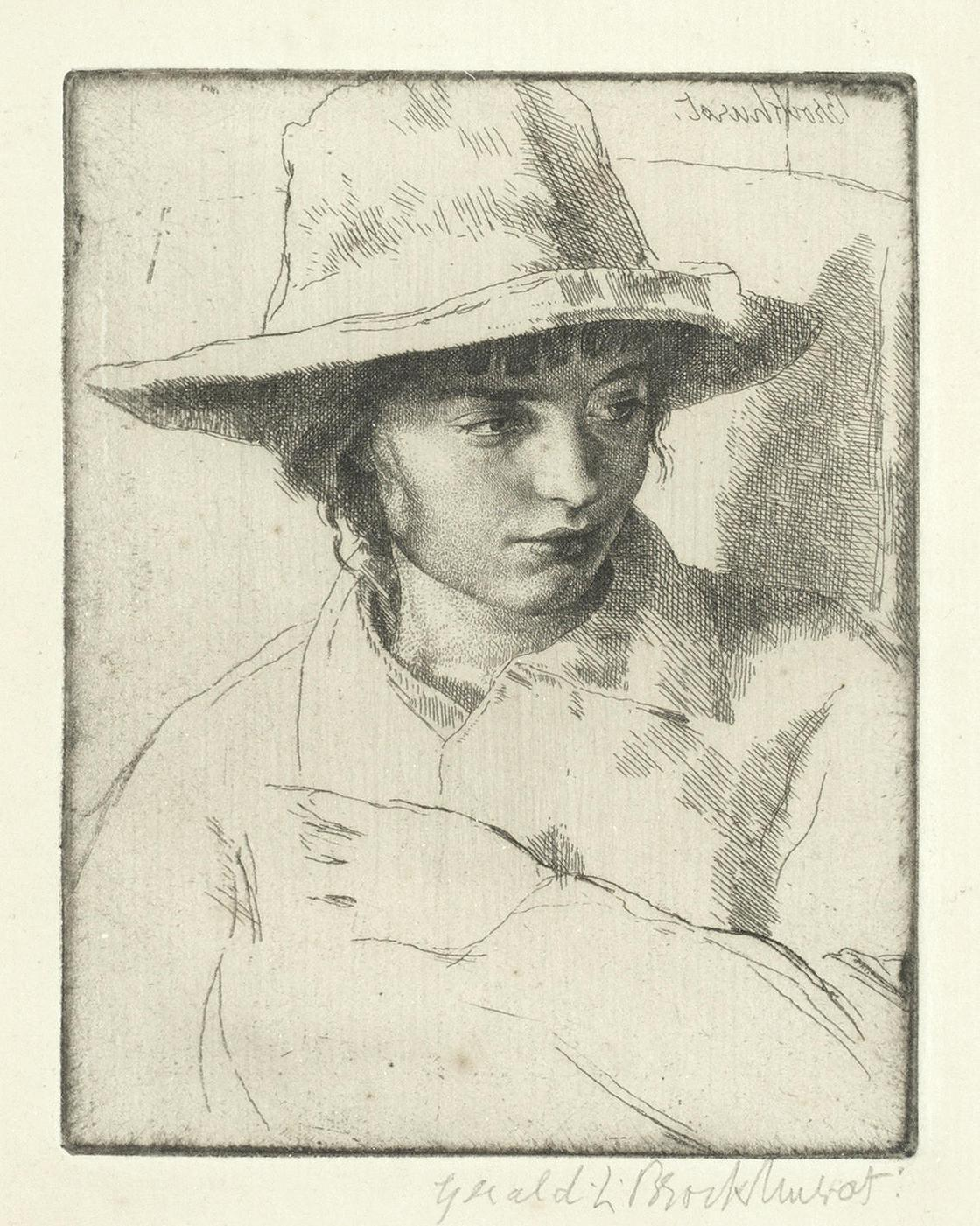 Gerald Leslie Brockhurst R.P. R.E. - A Group Of Etchings: Yolande (Mrs. Rushbury), Fabian, Viba (Mrs. Bobby Hazleton Ross), Amberly Boy No.2(Fletcher 12; 23; 62; 63)-1929