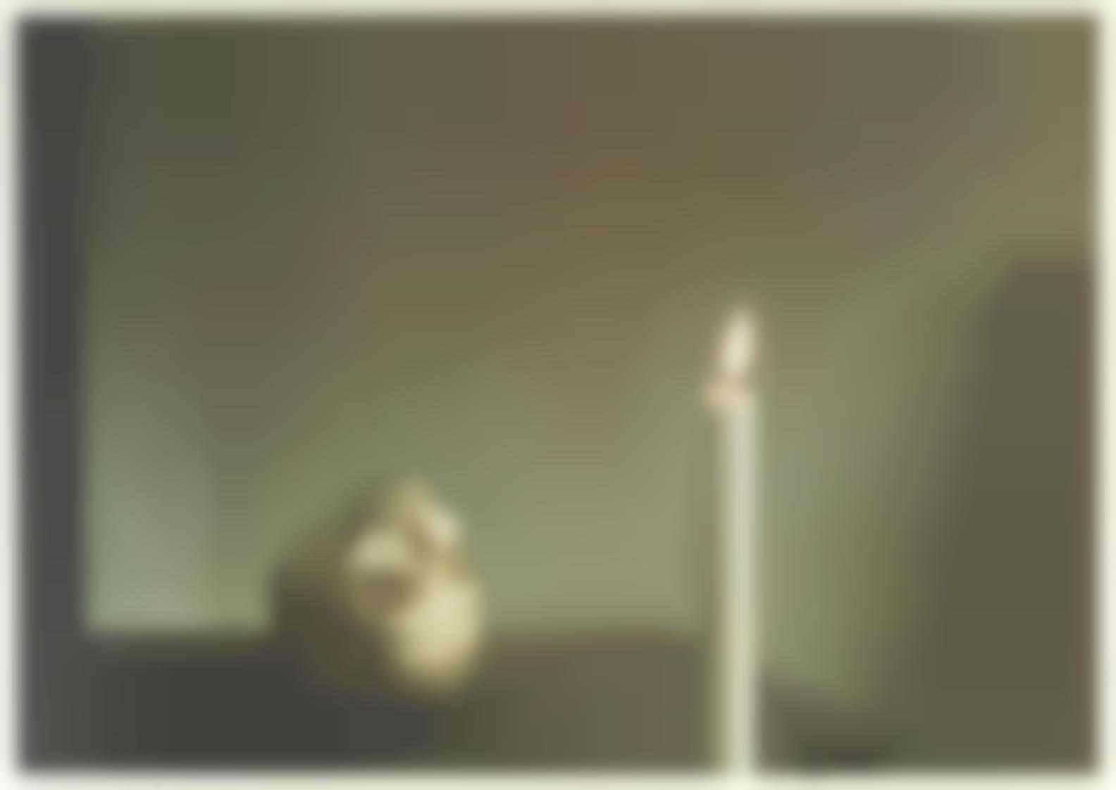 Gerhard Richter-Skull With Candle-1995