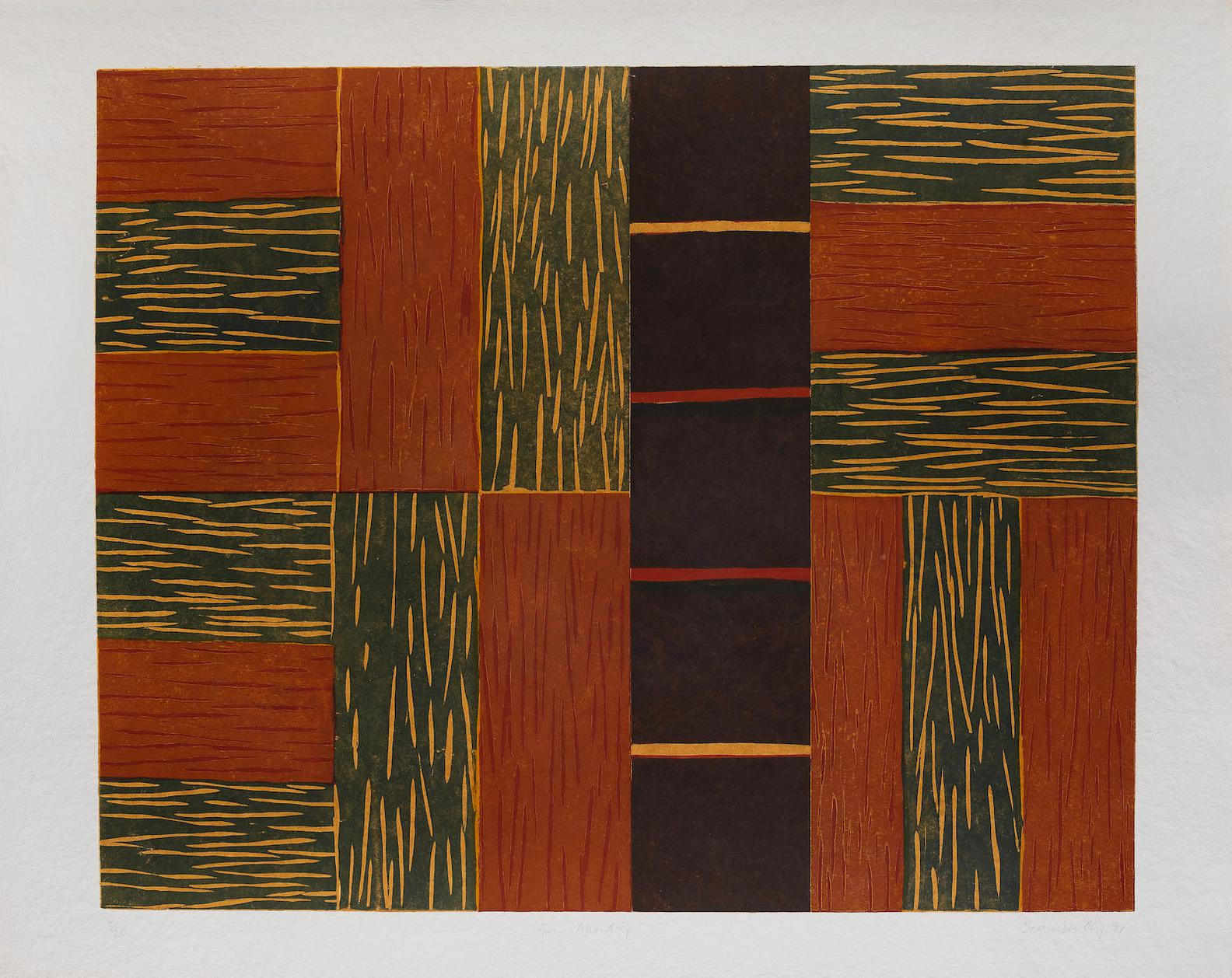 Sean Scully-Green Ascending-1991