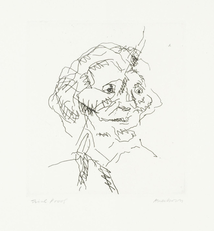 Frank Auerbach-Gerda Boehm, From Six Etchings Of Heads (Marlborough 13)-1981