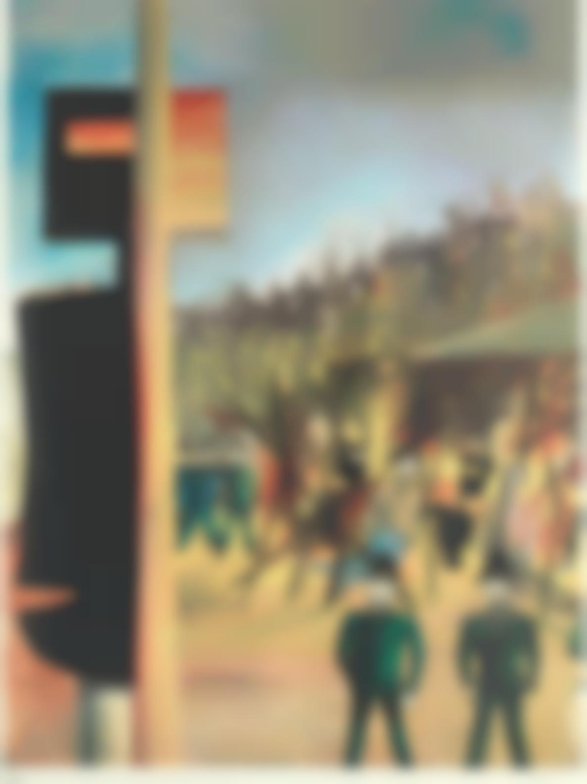 Sidney Nolan-Burning At Glenrowan, From Ned Kelly Series-1971