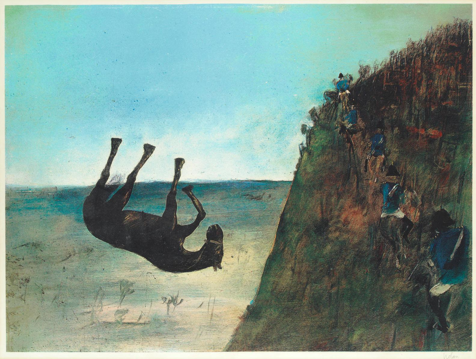 Sidney Nolan-The Slip, From Ned Kelly Series-1971