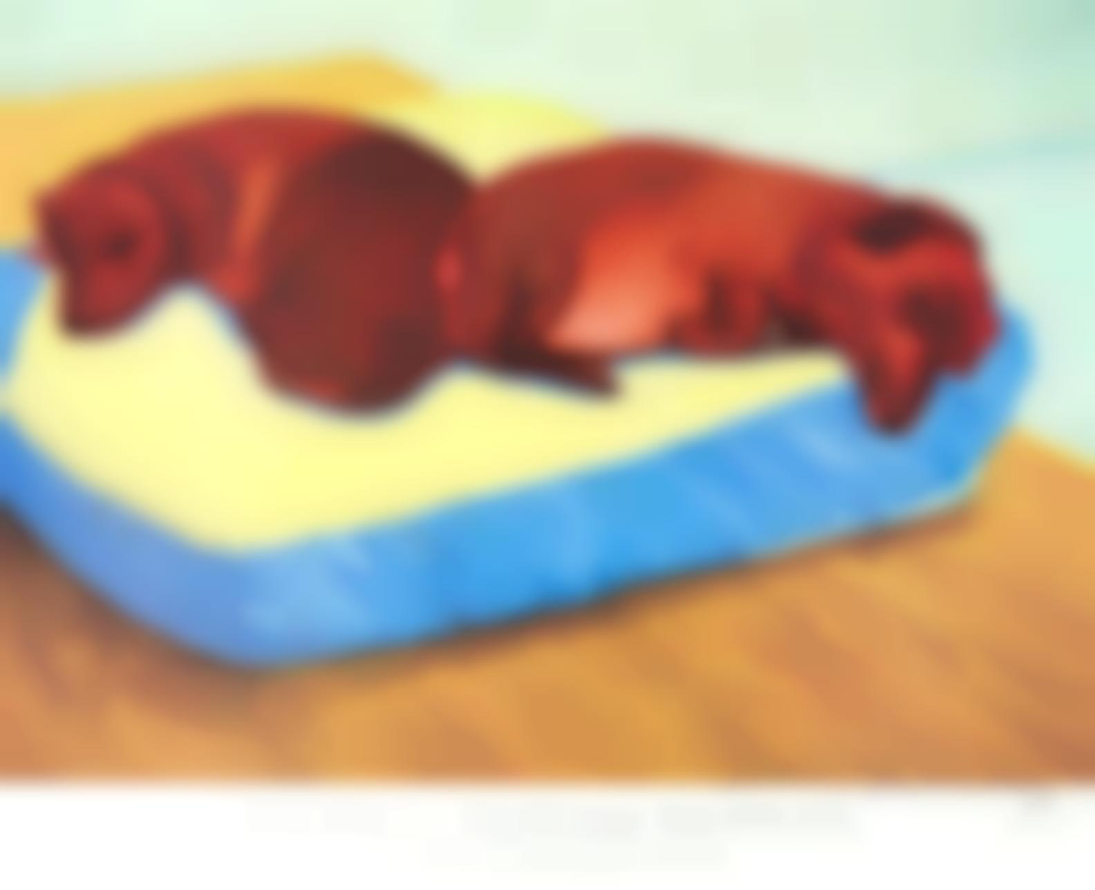 David Hockney-After David Hockney - A Group Of Exhibition Posters: David Hockney: Dog Paintings, Salt Mills; David Hockney: A Retrospective; Igor Stravinsky, Metropolitan Opera, New York-1995