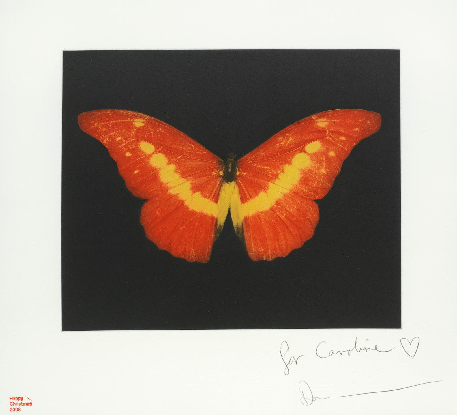 Damien Hirst-Orange Butterfly (Small)-2008