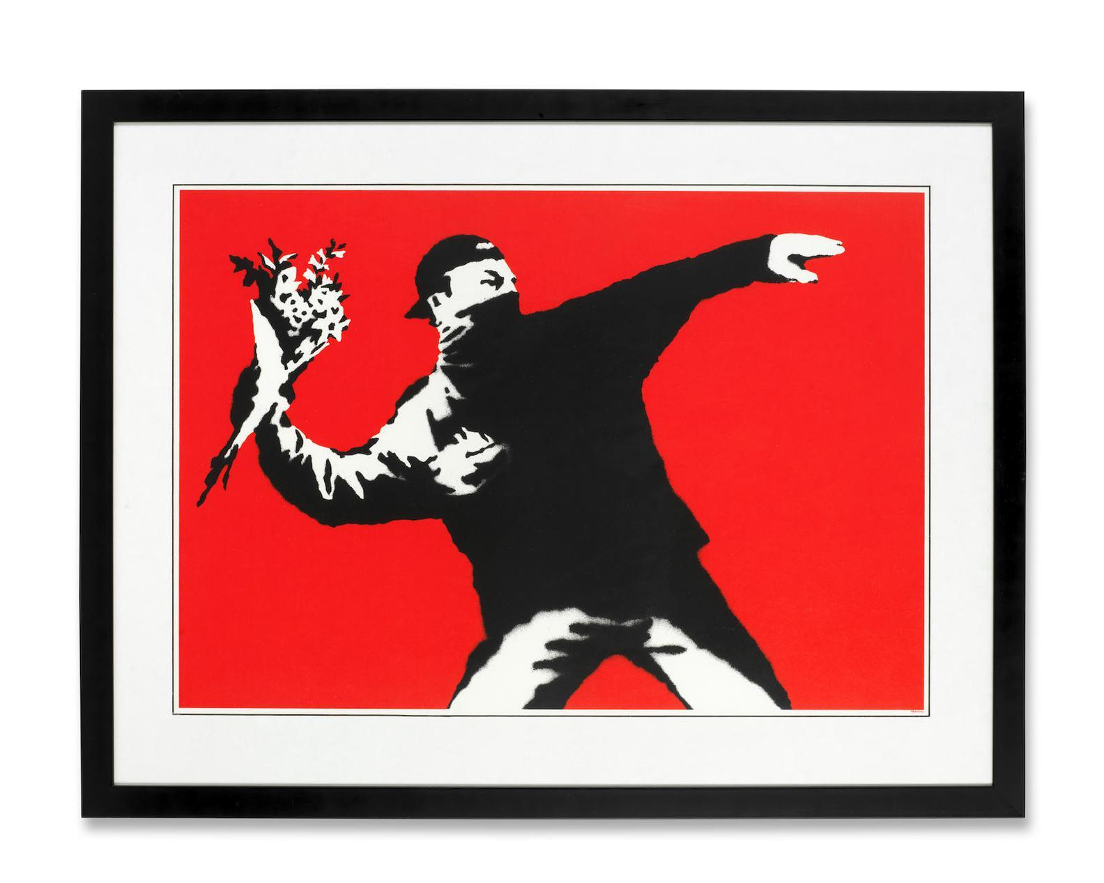 Banksy-Love Is In The Air (Flower Thrower)-2003