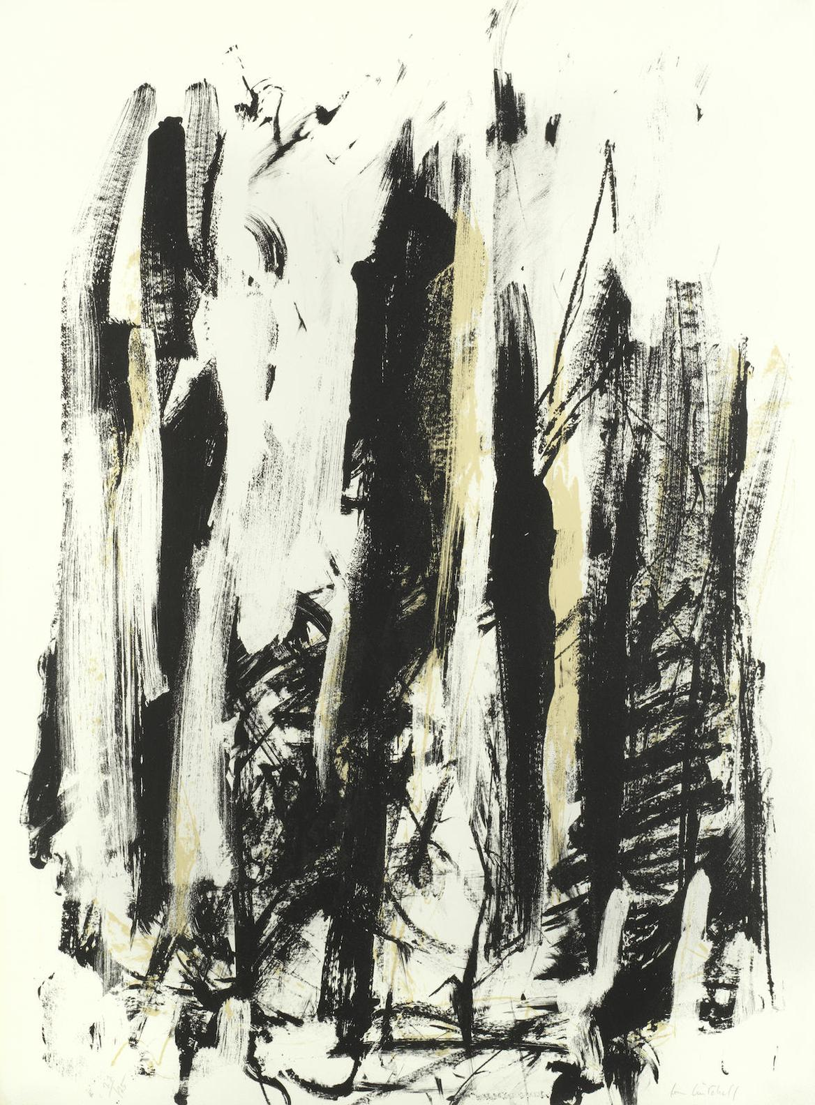 Joan Mitchell-Arbres (Black And Yellow)-1992