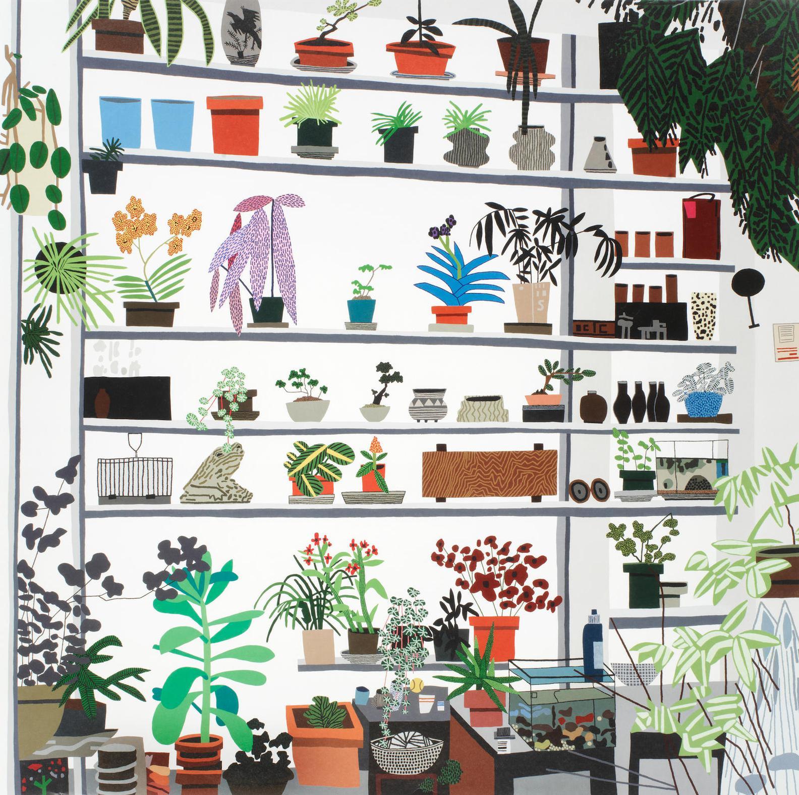 Jonas Wood-Large Shelf Still Life-2017