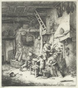 Adriaen van Ostade-A Collection Of Five Etchings (Godefroy 12, 18, 40, 41, 46)